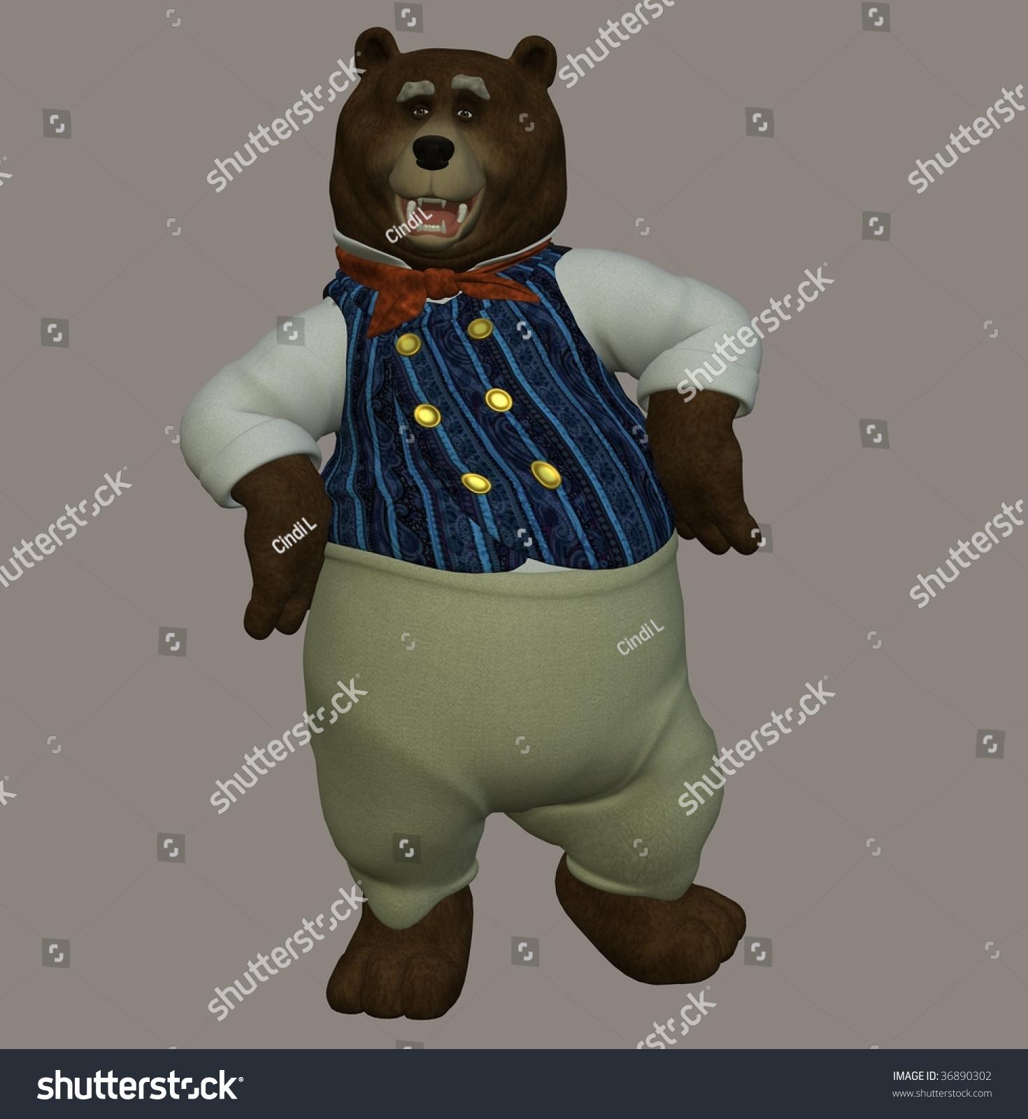 papa bear nursery rhyme three bears stock illustration 36890302