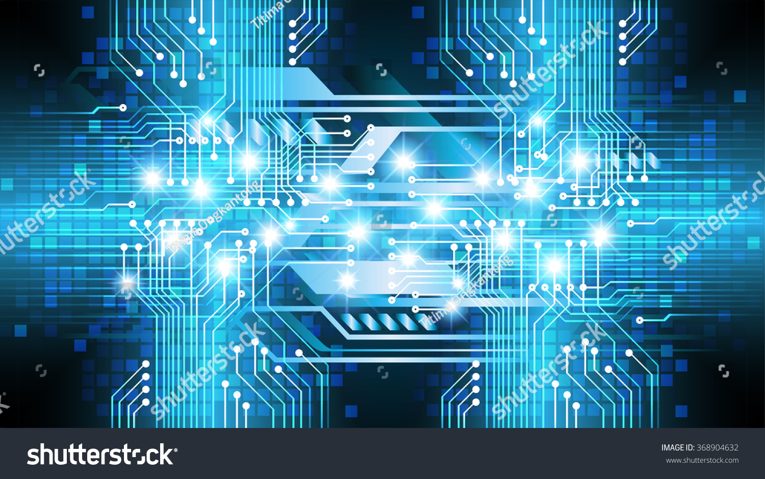 Abstract Circuit Board Background By Silvertiger: Dark Blue Silver Light Abstract Technology Stock
