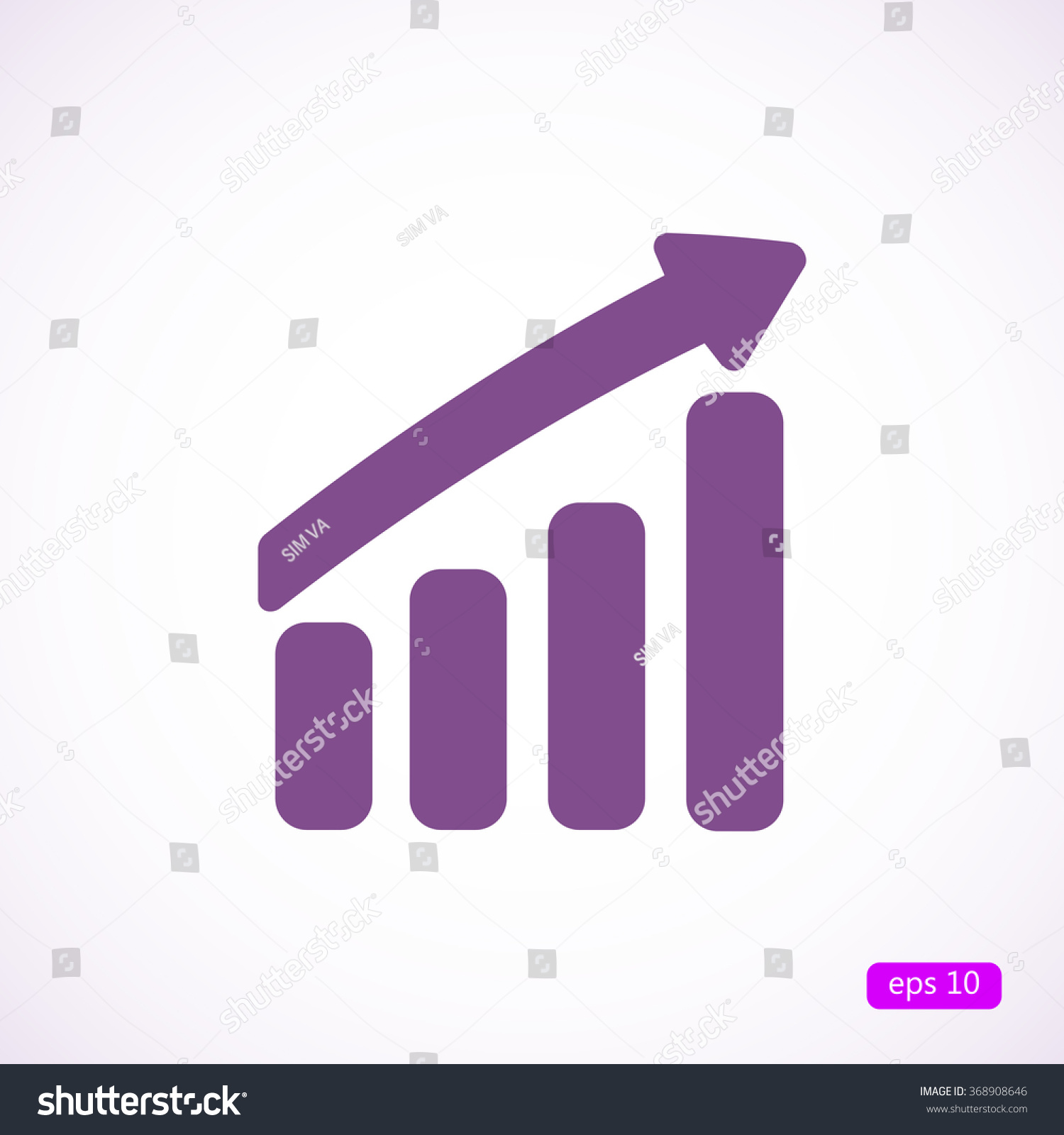 bar chart arrow icon stock vector (royalty free) 368908646