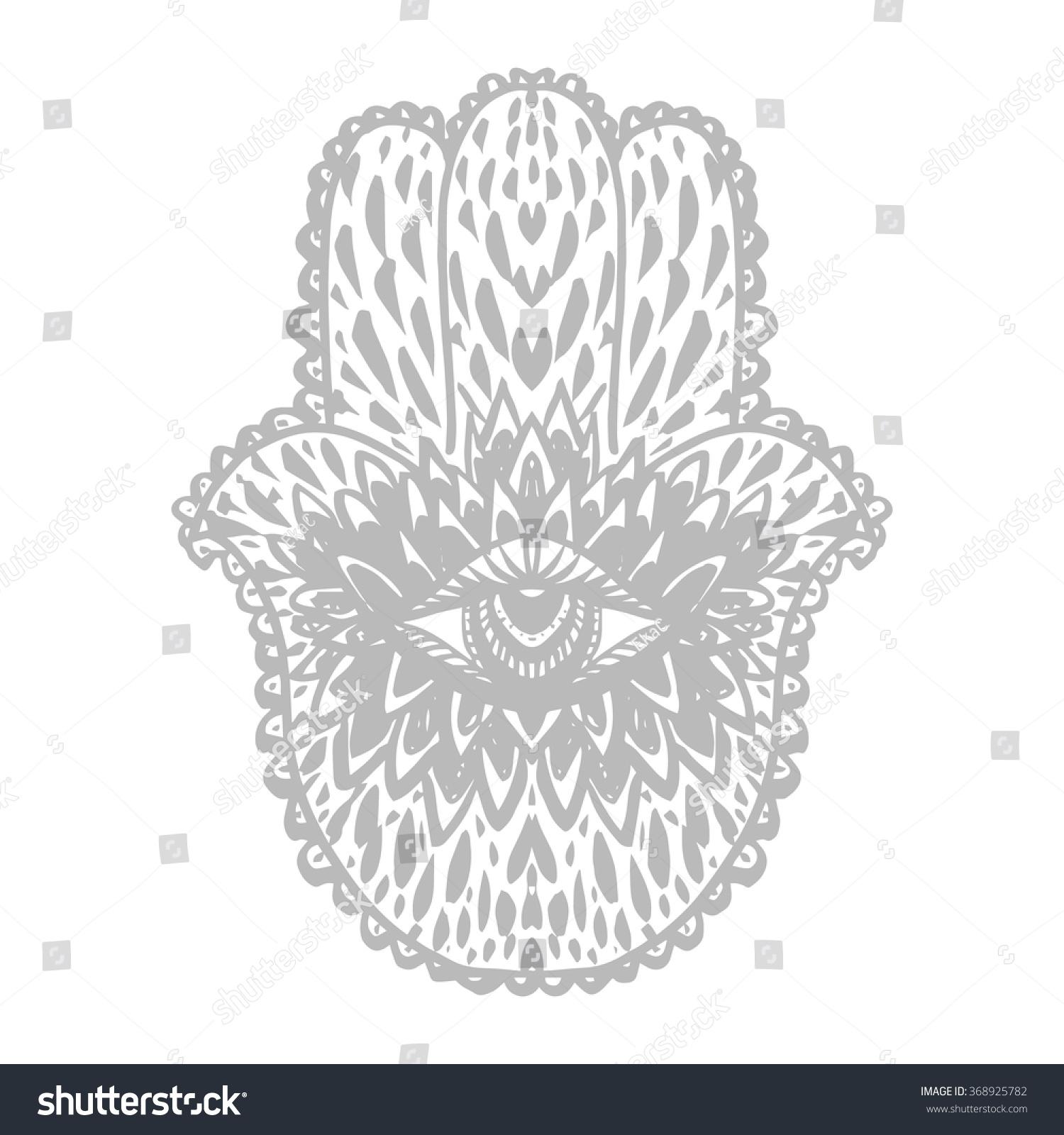 Divine symbol protection evil eye hamsa stock vector 368925782 divine symbol of protection from evil eye hamsa hand buddhist tattoo biocorpaavc Choice Image