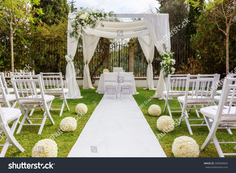 Wedding Decoration Garden Modern Wedding Stock Photo (Royalty Free ...