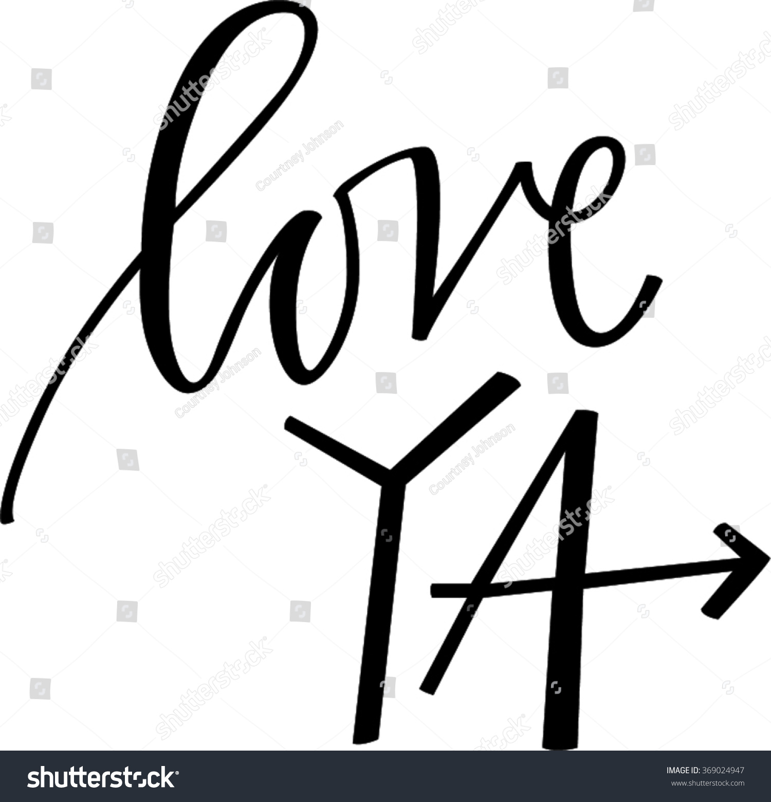 Love Ya Stock Vector Royalty Free 369024947