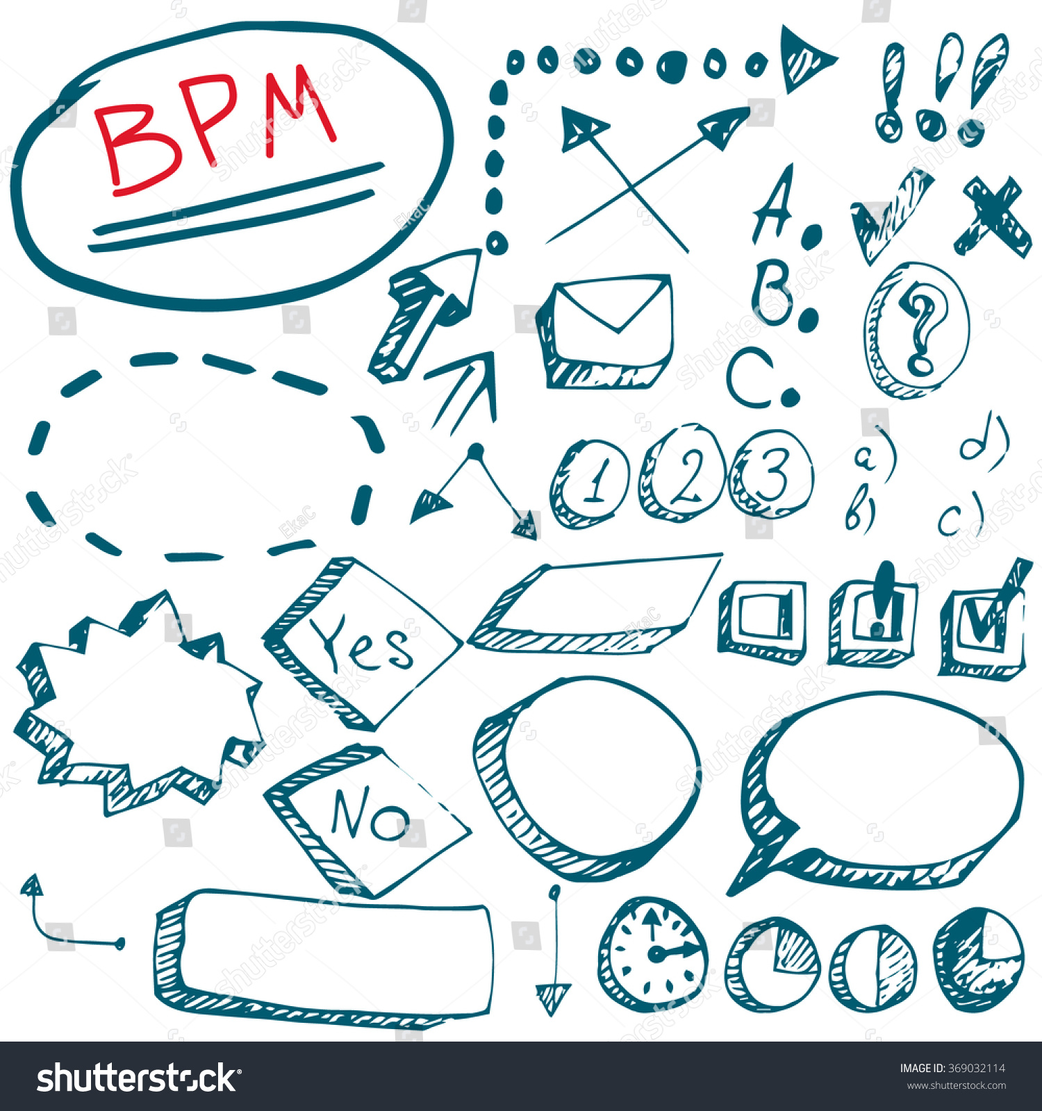 Bpm elements vector work flow chart stock vector 369032114 bpm elements vector work flow chart and business process element management graph hand drawn planning symbols nvjuhfo Image collections