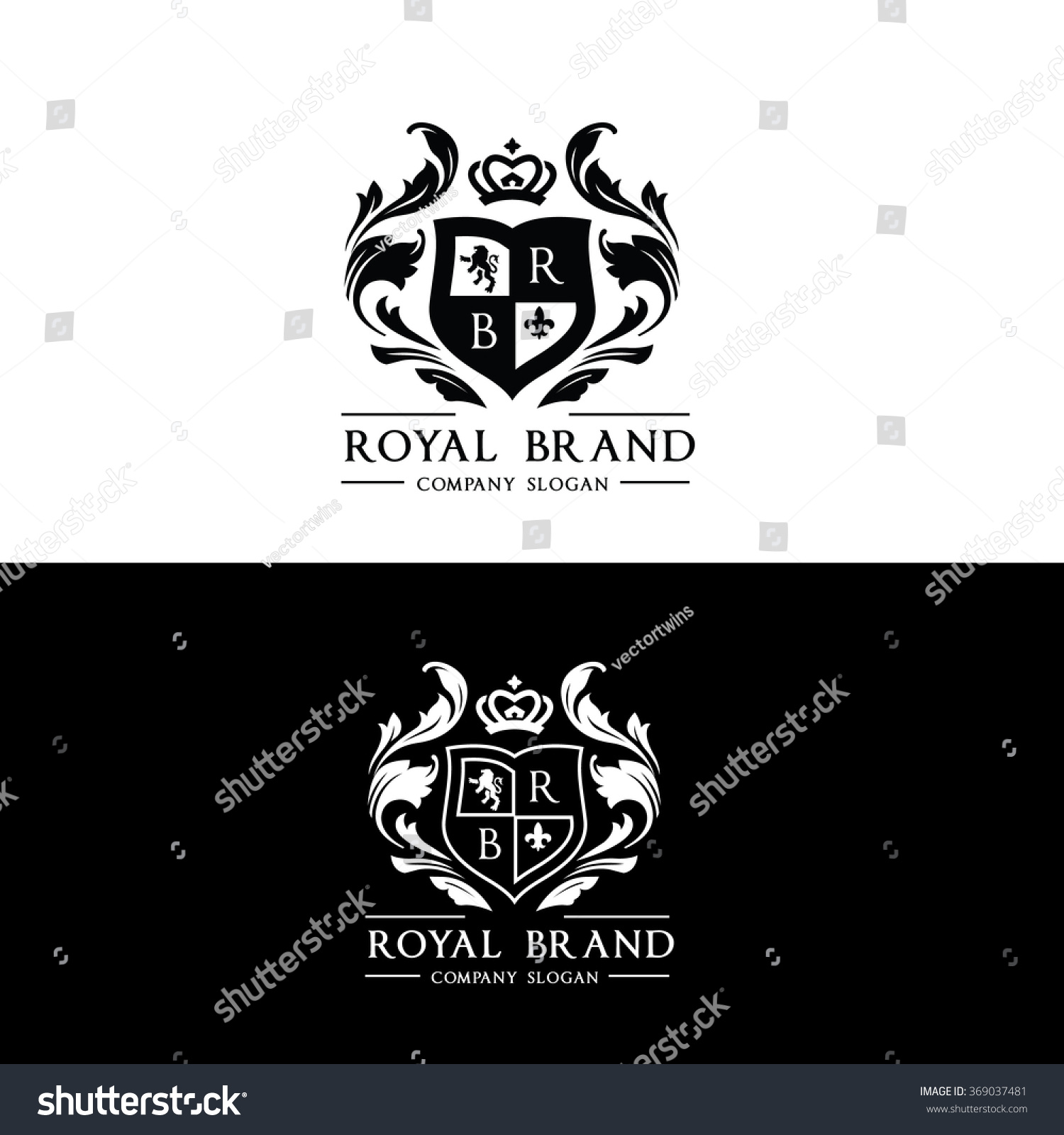 royal brand logocrown logolion logocrest logovector