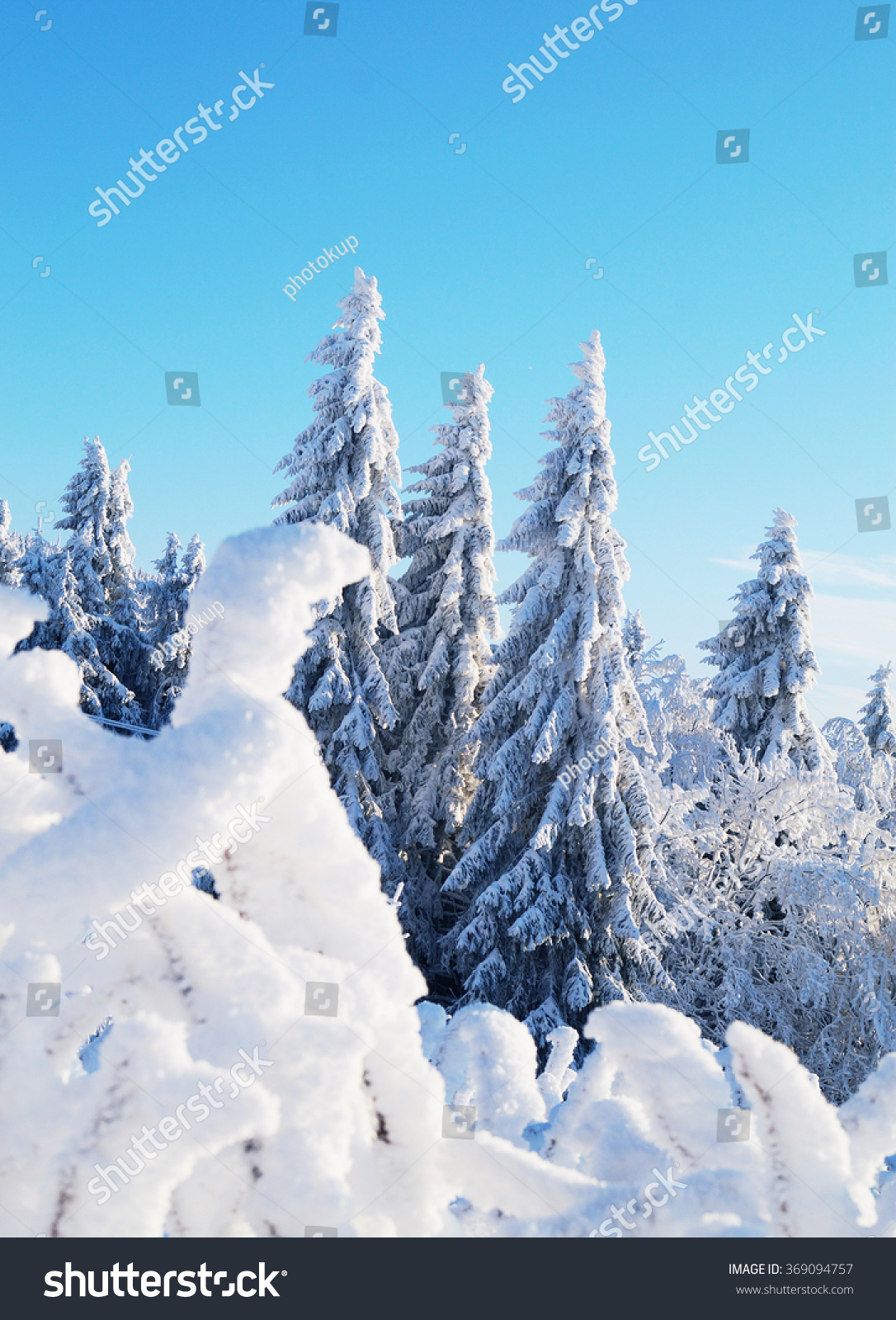 Snowy Mountain Landscape Stock Photo 369094757 : Shutterstock