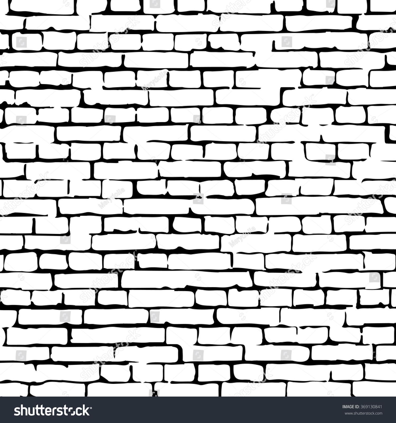 Brick Wall Clip Art: Vector Brick Wall Texture Illustration, Brick Wall Pattern