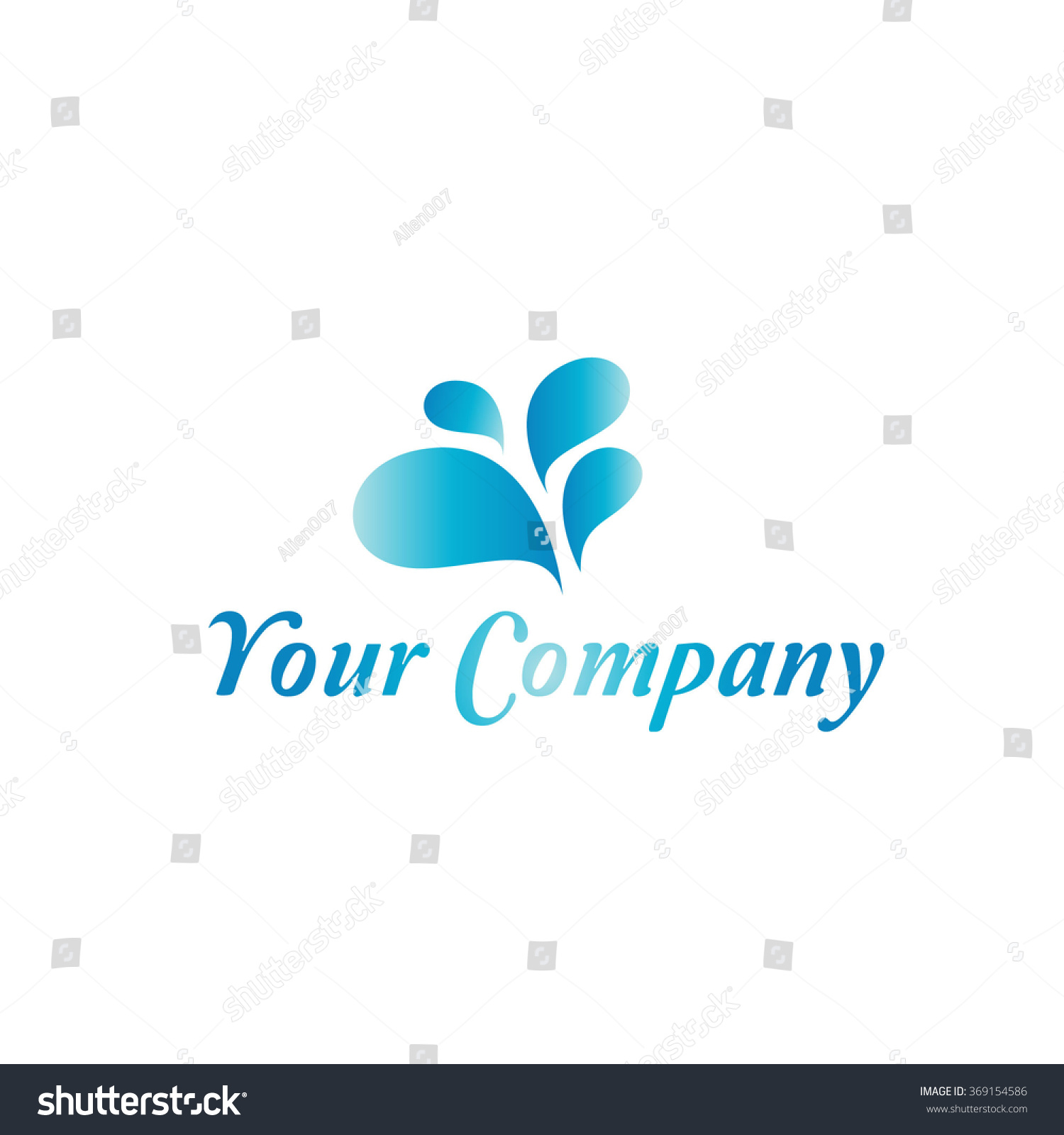 Clear Fresh Water Symbol Stock Vector Royalty Free 369154586