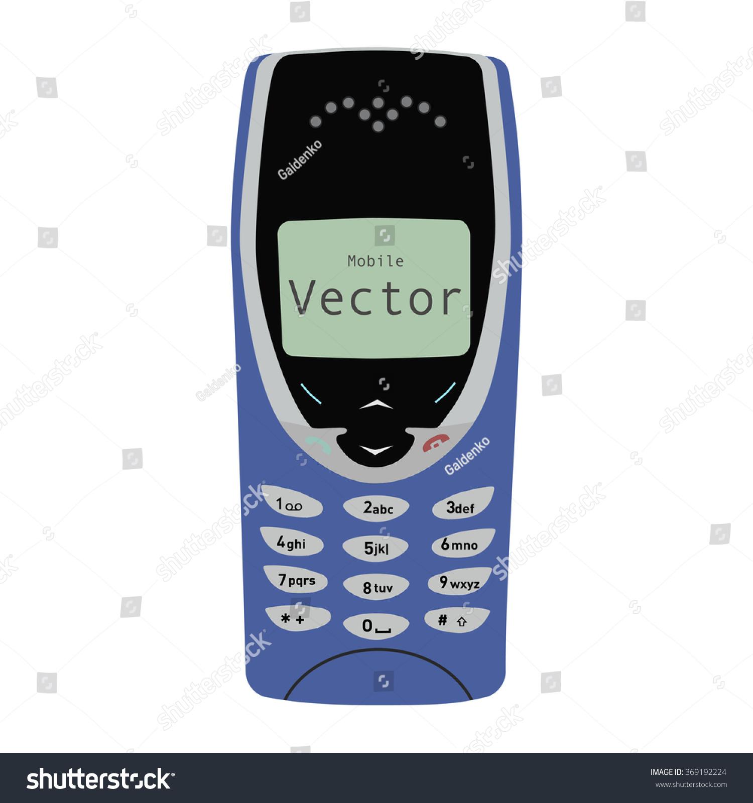 Novosibirsk Russia January 2016 Nokia Phone Stock Vector Royalty Button Flat