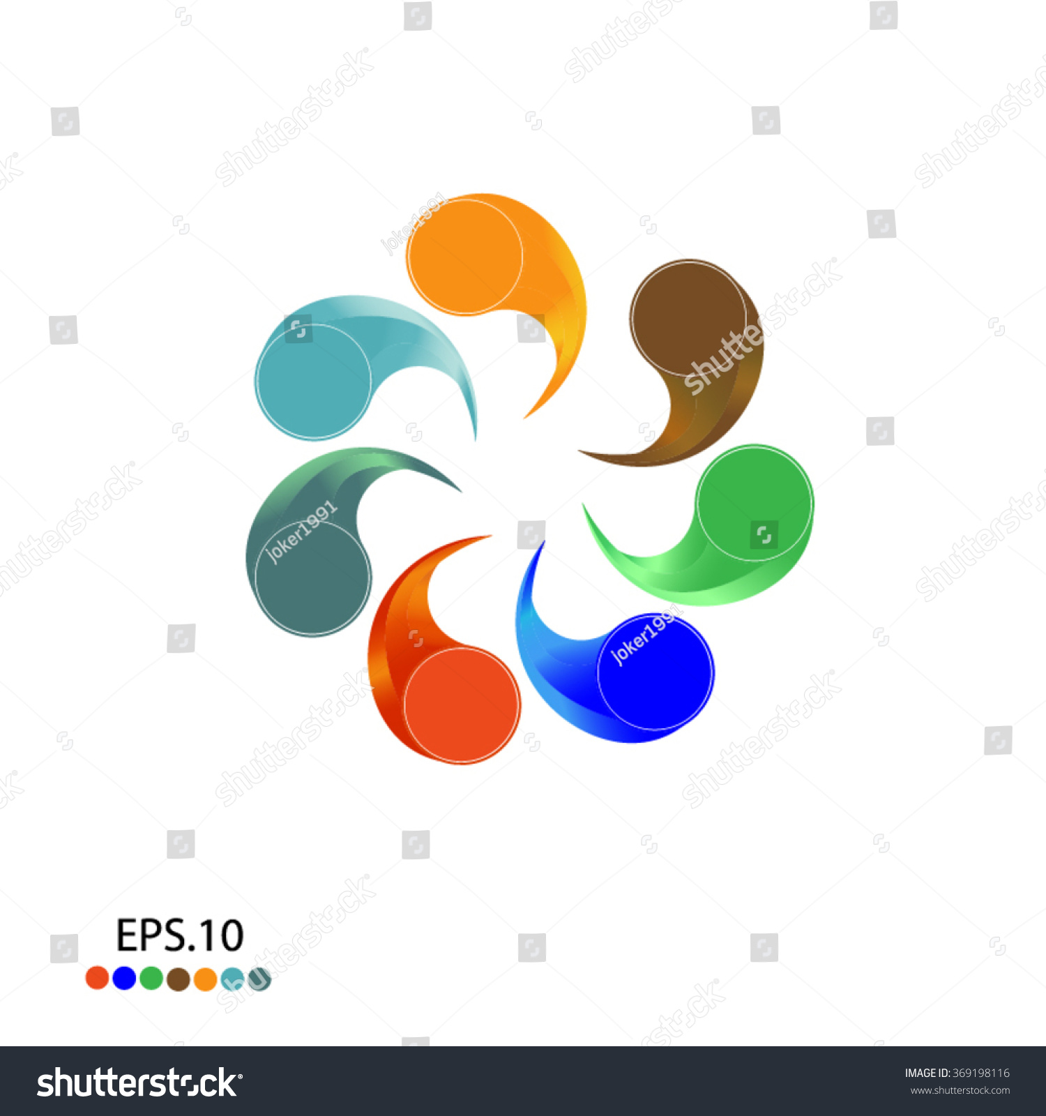 Abstract circle creative signs and symbols circles plus signs stars triangle hexagons and other design elements vector