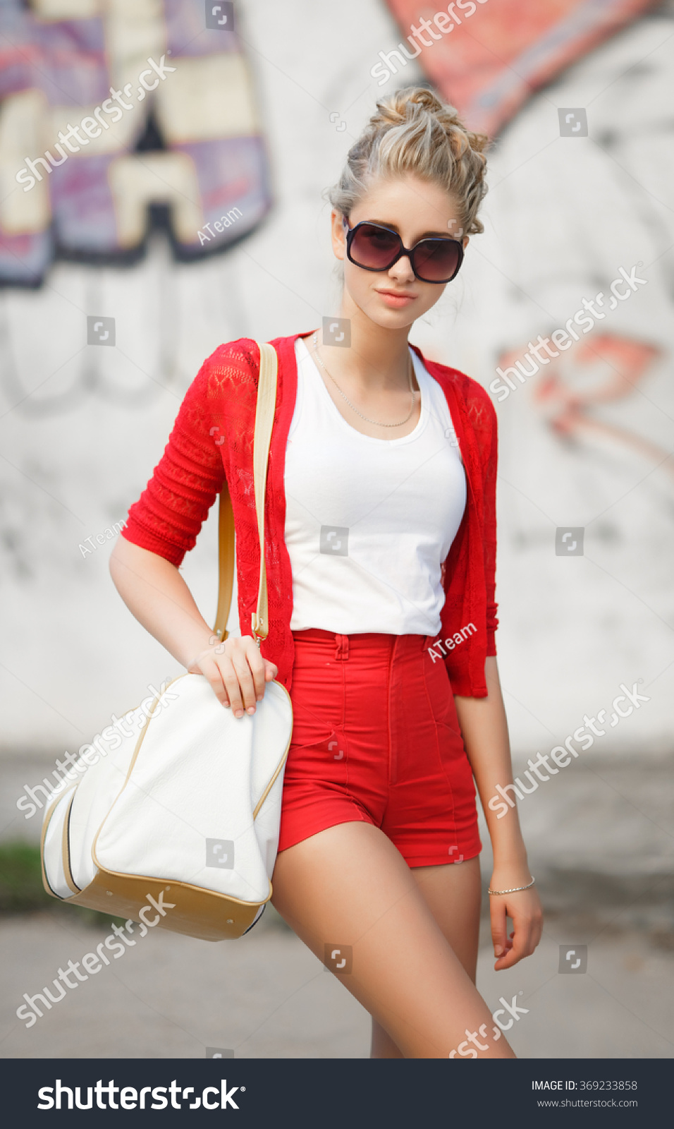 4191fbbeb576 Fashionable Young Girl Outdoor Portrait Fashion Stock Photo (Edit ...