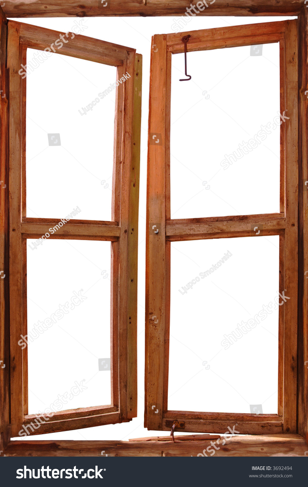 Old window isolated against white background stock photo 3692494 shutterstock - Stock finestre pvc ...