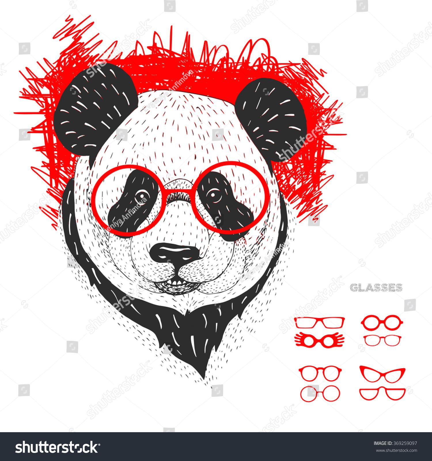 Panda Bear Sitting Pewter Motif Leather effect PU Glasses Spectacle Case  259