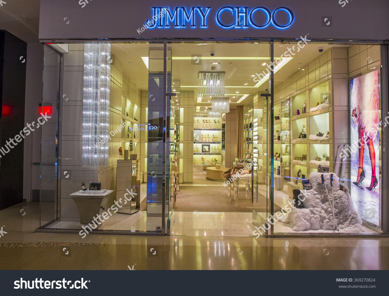 Las Vegas Dec 18 Exterior Of A Jimmy Choo Store In Las Vegas Strip On Dec