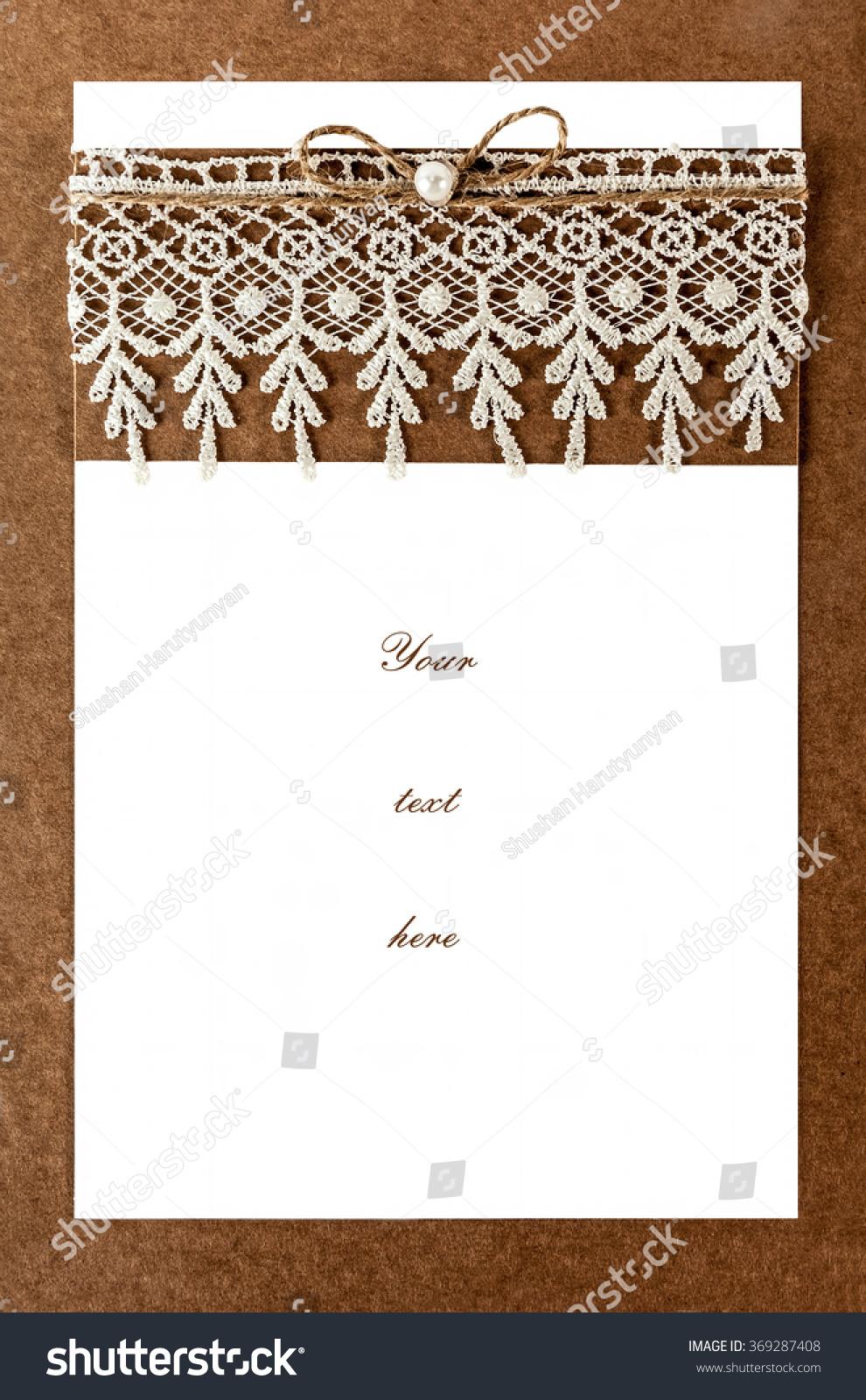 Blank Invitation Card Ceremony Wedding Party Stock Photo Edit Now