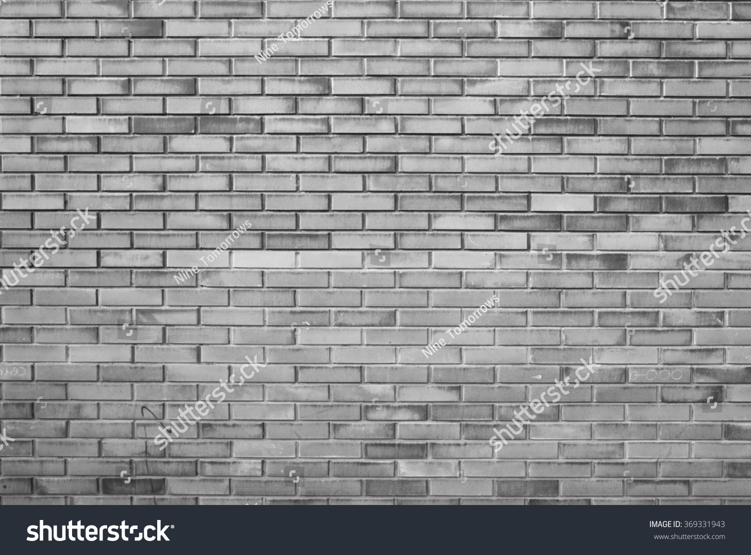 Plain wood table with hipster brick wall background stock photo - Grey Plain City Brick Wall
