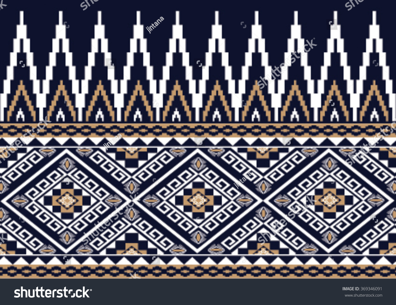 Geometric ethnic pattern embroidery design background