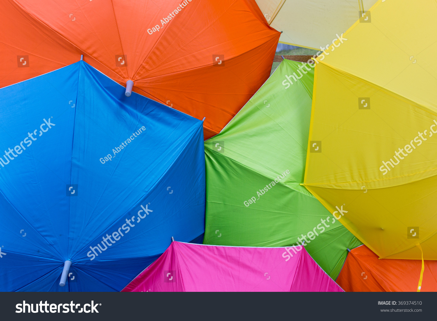 Colorful Umbrella Be Colorful Background Stock Photo 369374510 ...