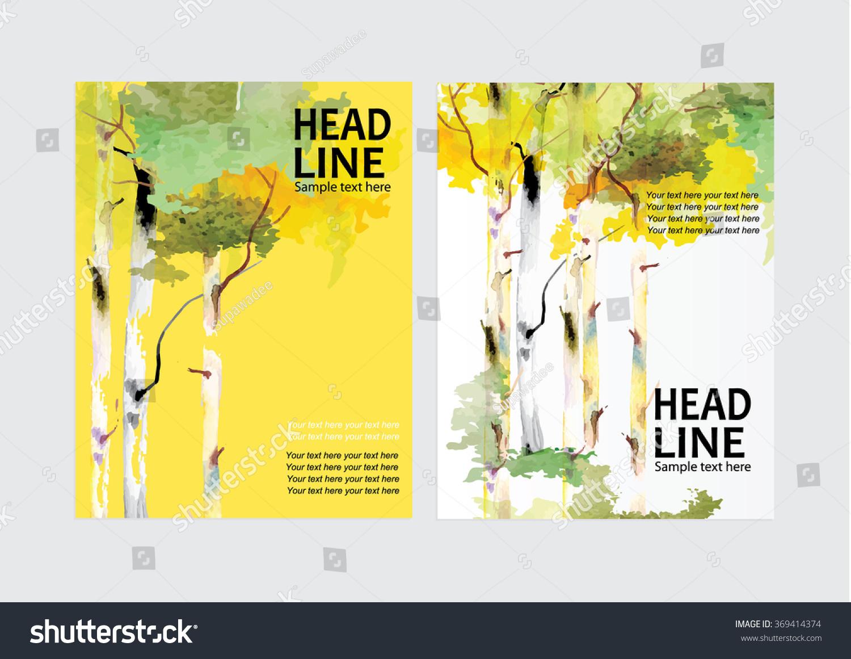 Vector Brochure Flyer Design Layout Template Vector de stock (libre ...