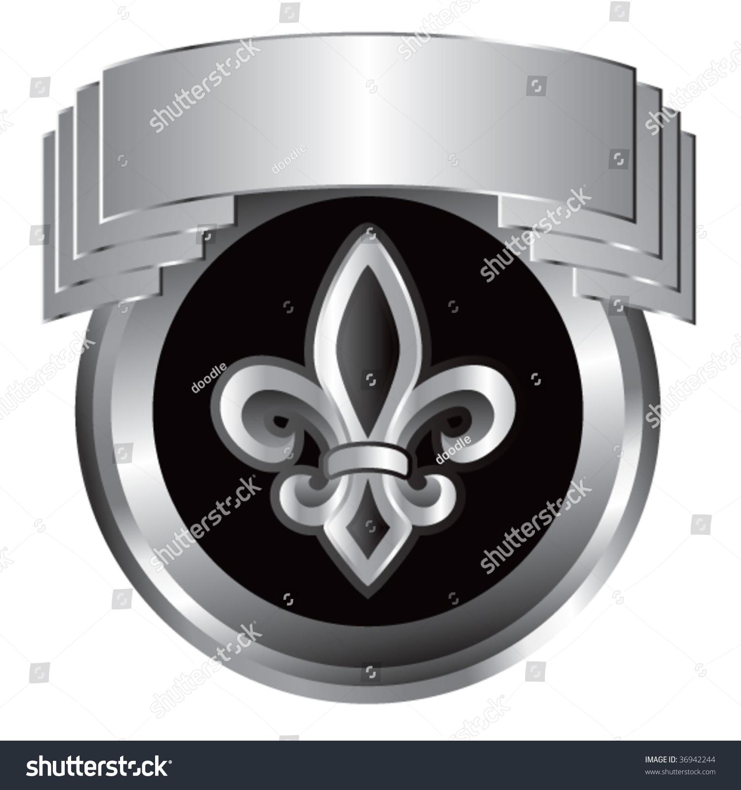 Fleur de lis symbol silver crest stock vector 36942244 shutterstock fleur de lis symbol silver crest biocorpaavc