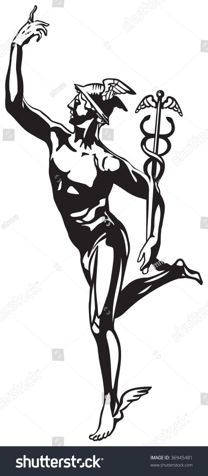 Roman God Mercury Symbol
