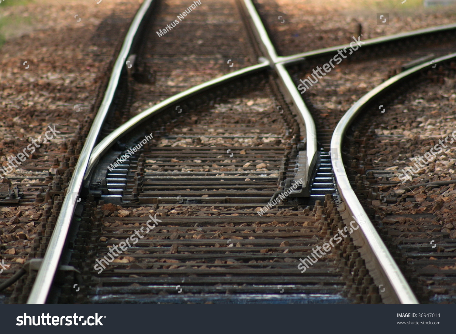 Lever Train Track : Can modern trains steer to choose its path at a fork or
