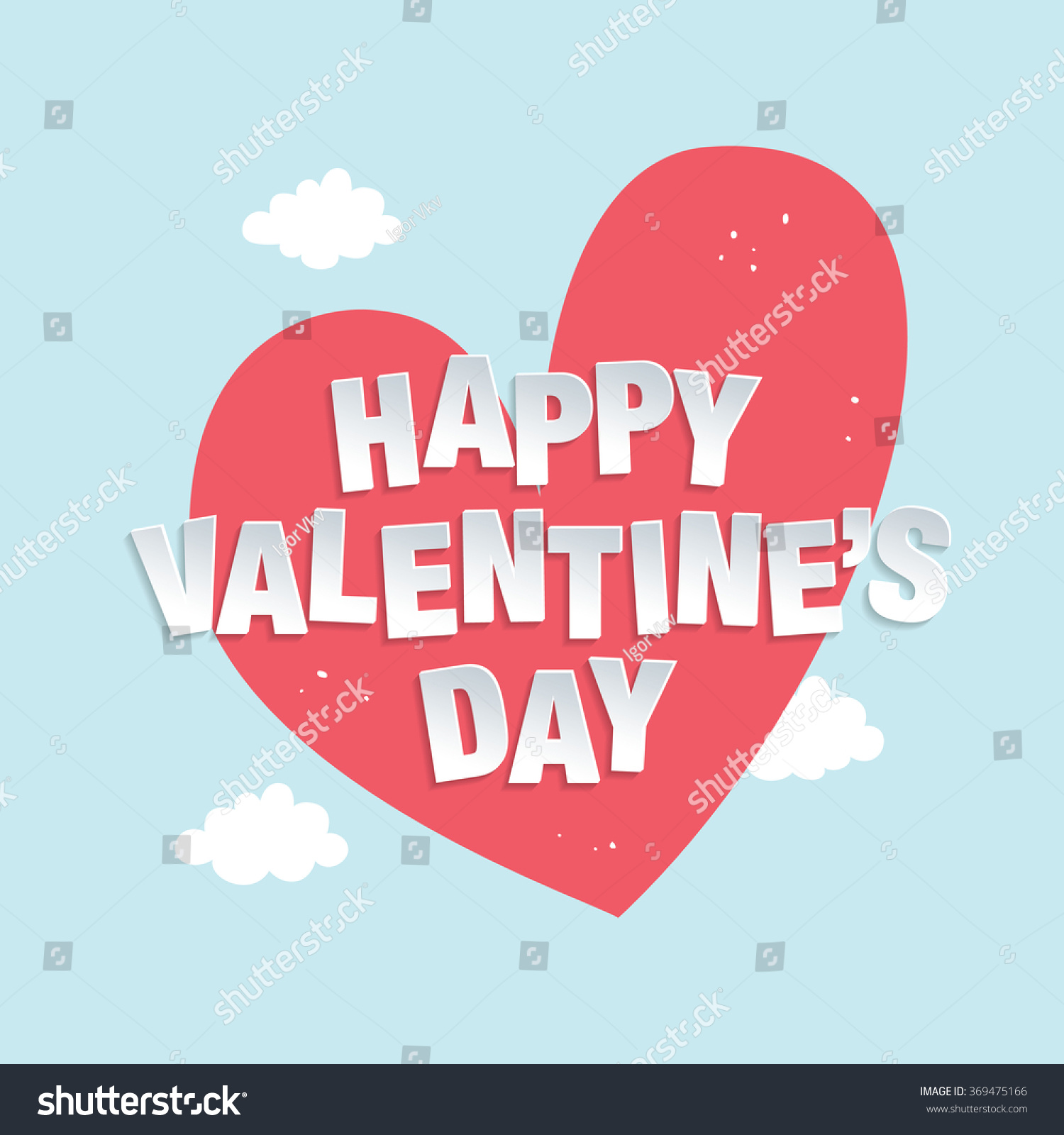 Happy Valentines Day Greeting Card Stock Vector 369475166 Shutterstock