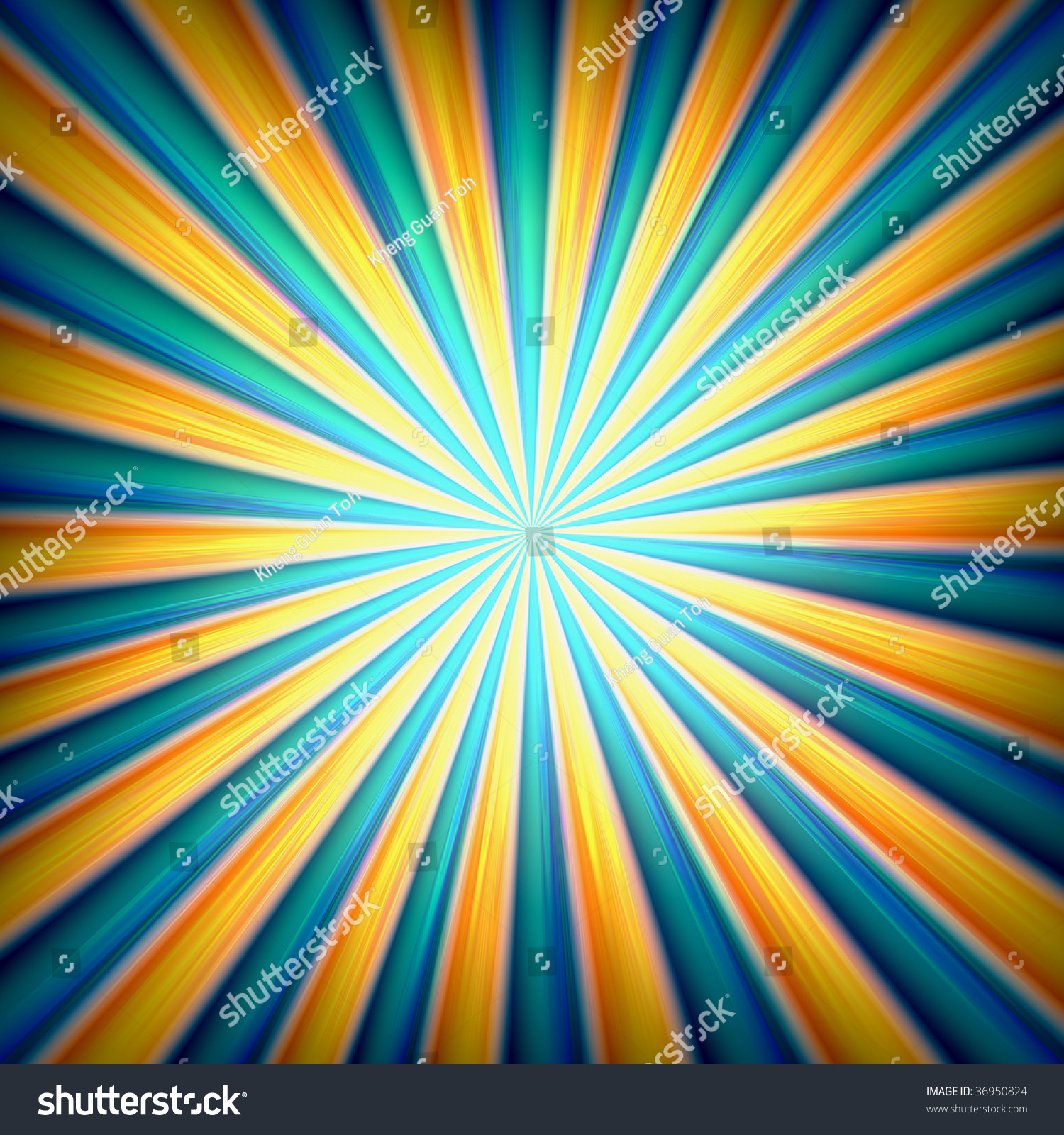 Radial Zoom Burst Of Energy, Abstract Background
