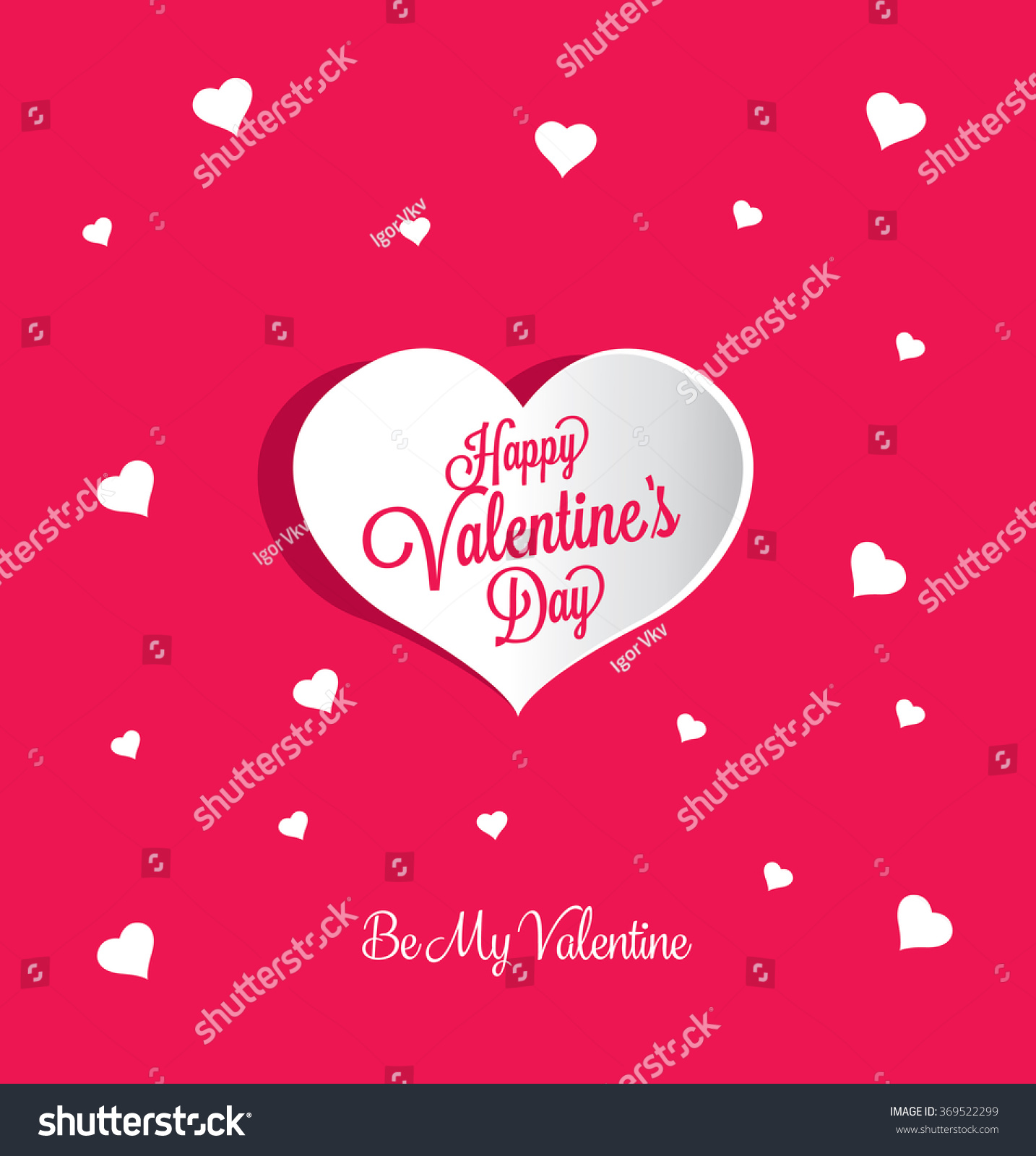 Valentines Greeting Card Stock Vector 369522299 Shutterstock