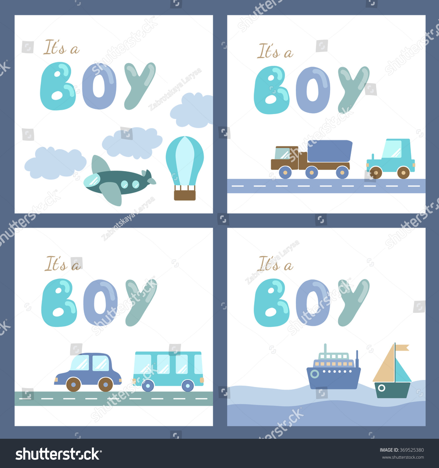 baby boy shower cards template set stock vector 369525380 baby boy shower cards template set holiday card design transport and hand drawn letters