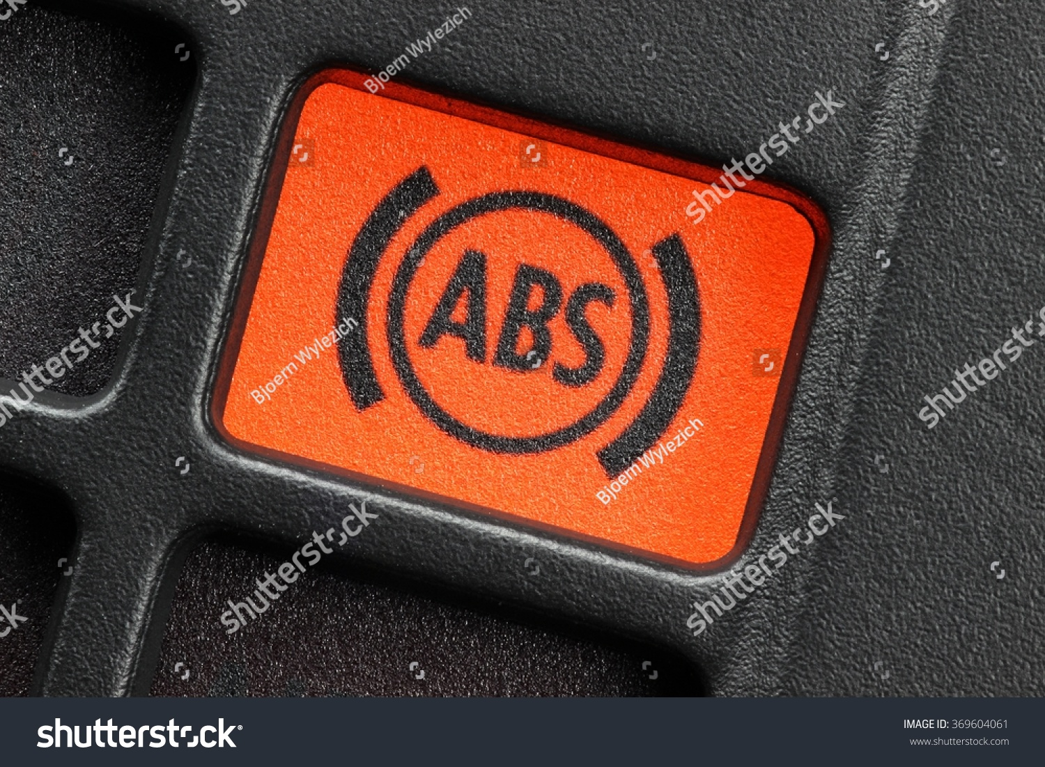 Abs Warning Light Car Dashboard Stock Photo Edit Now 369604061