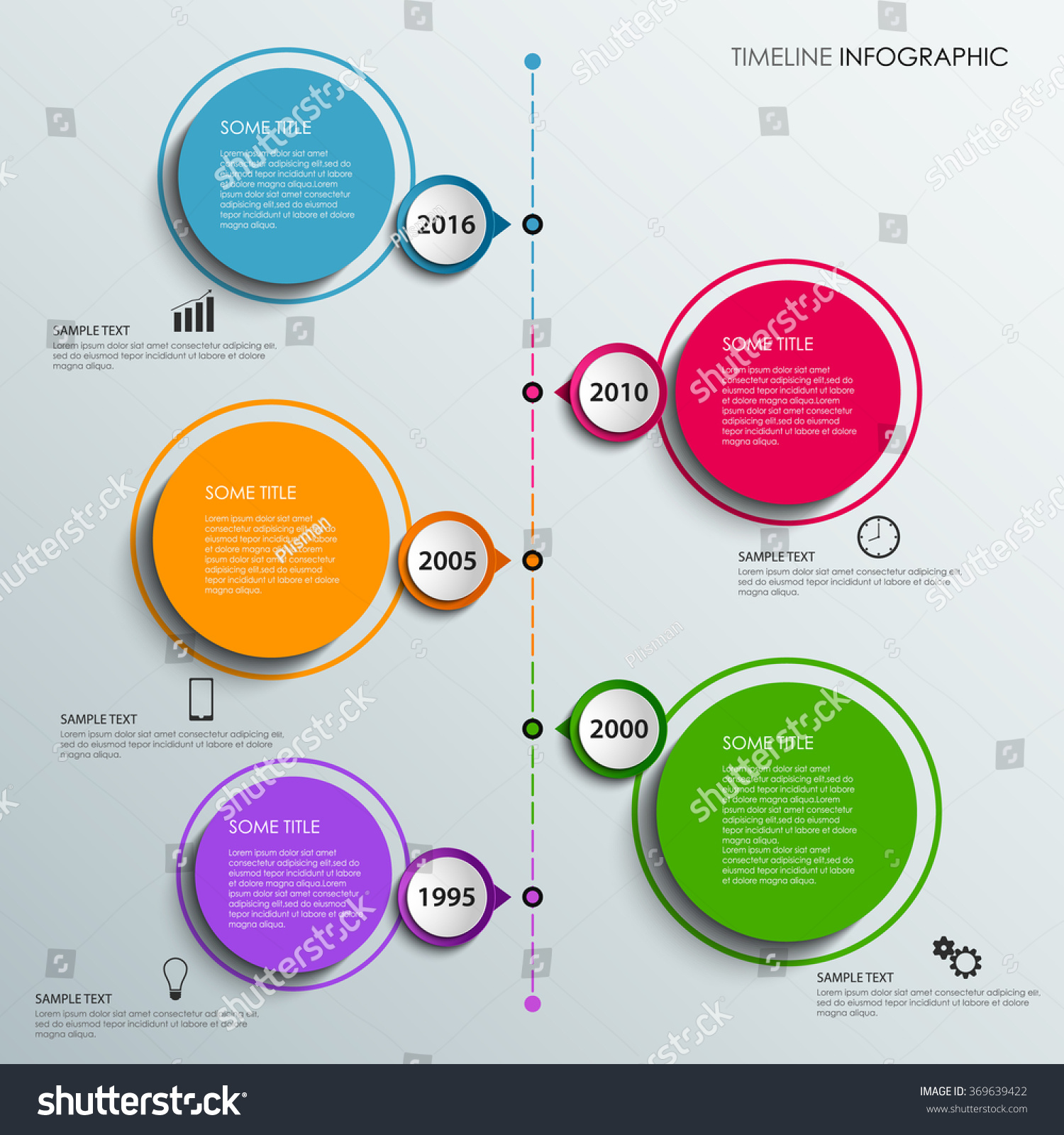 Graphic Design Elements Line : Time line info graphic colorful design stock vector
