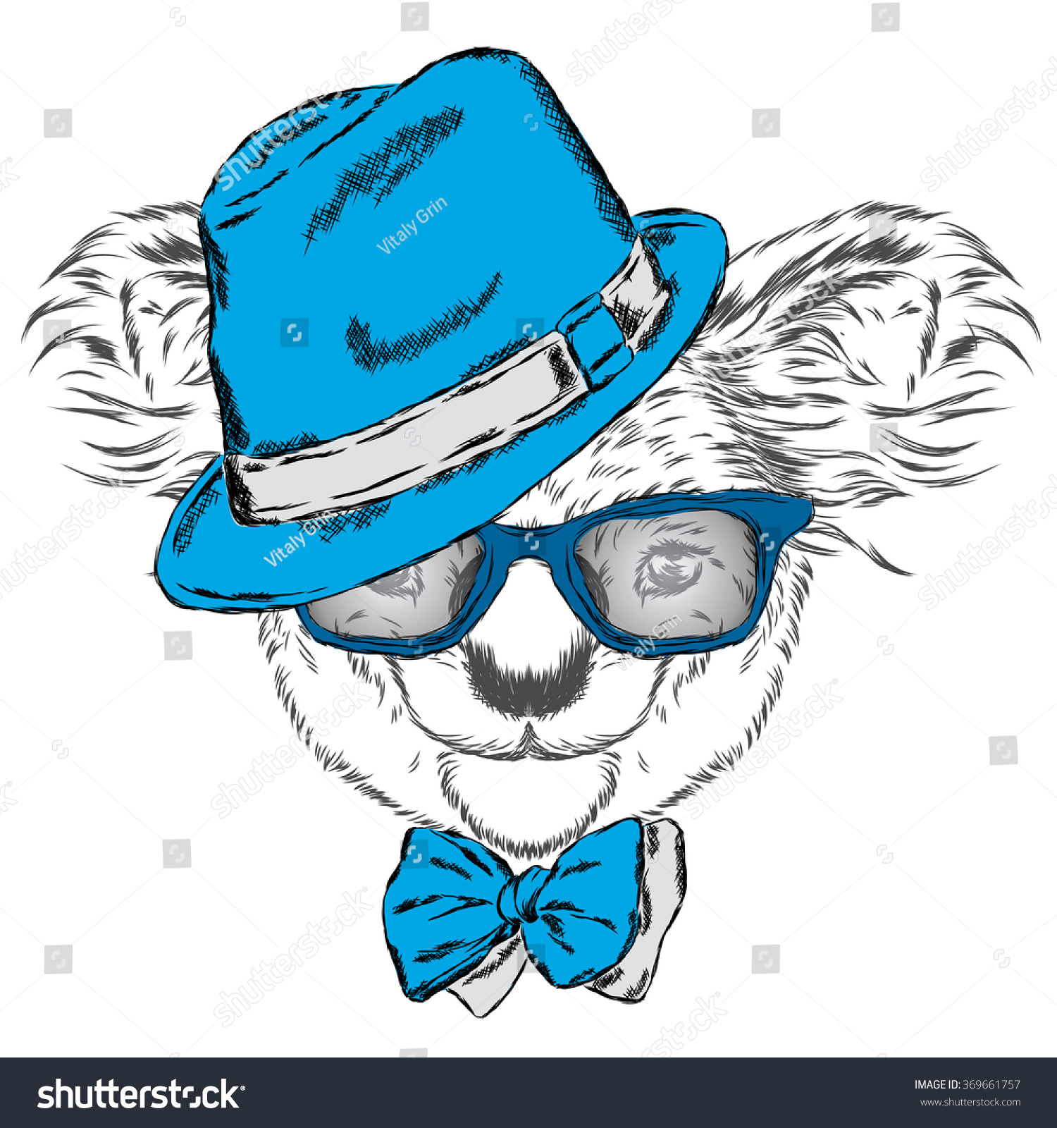Cute Koala In A Cap And A Tie Australia Vector Illustration For