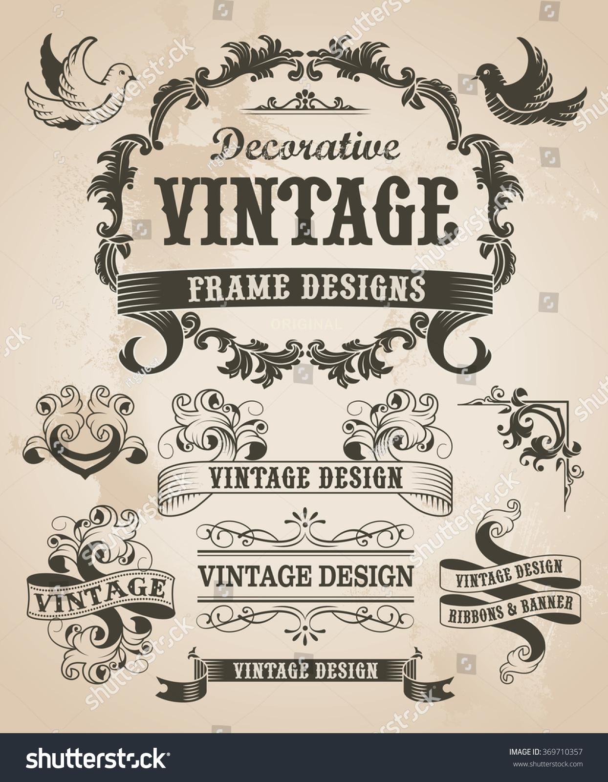 retro vintage banner ribbon set vector stock photo photo vector rh shutterstock com vintage banner vector free download banner vintage vector