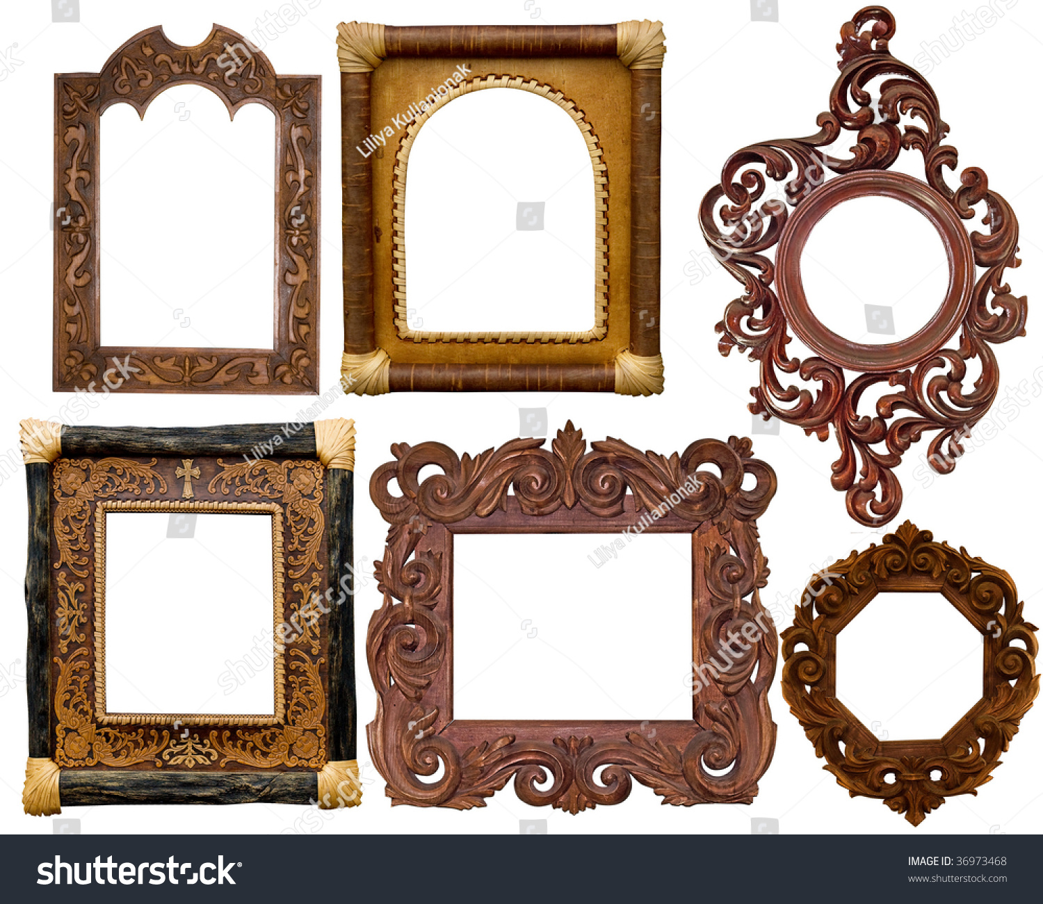 collection of carved decorative frames - Decorative Picture Frames
