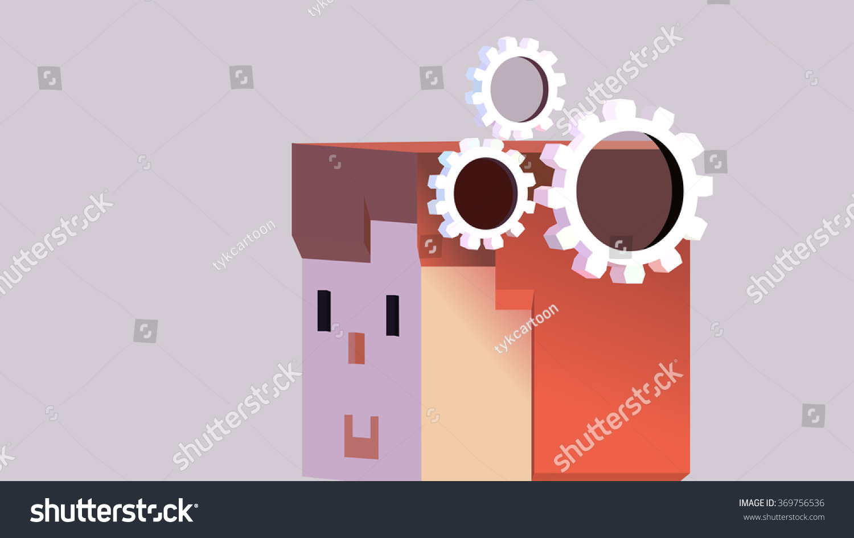Cartoon human head cog gear wheel stock vector 369756536 cartoon human head with cog gear wheel objects symbol of thinking mind memory educational biocorpaavc