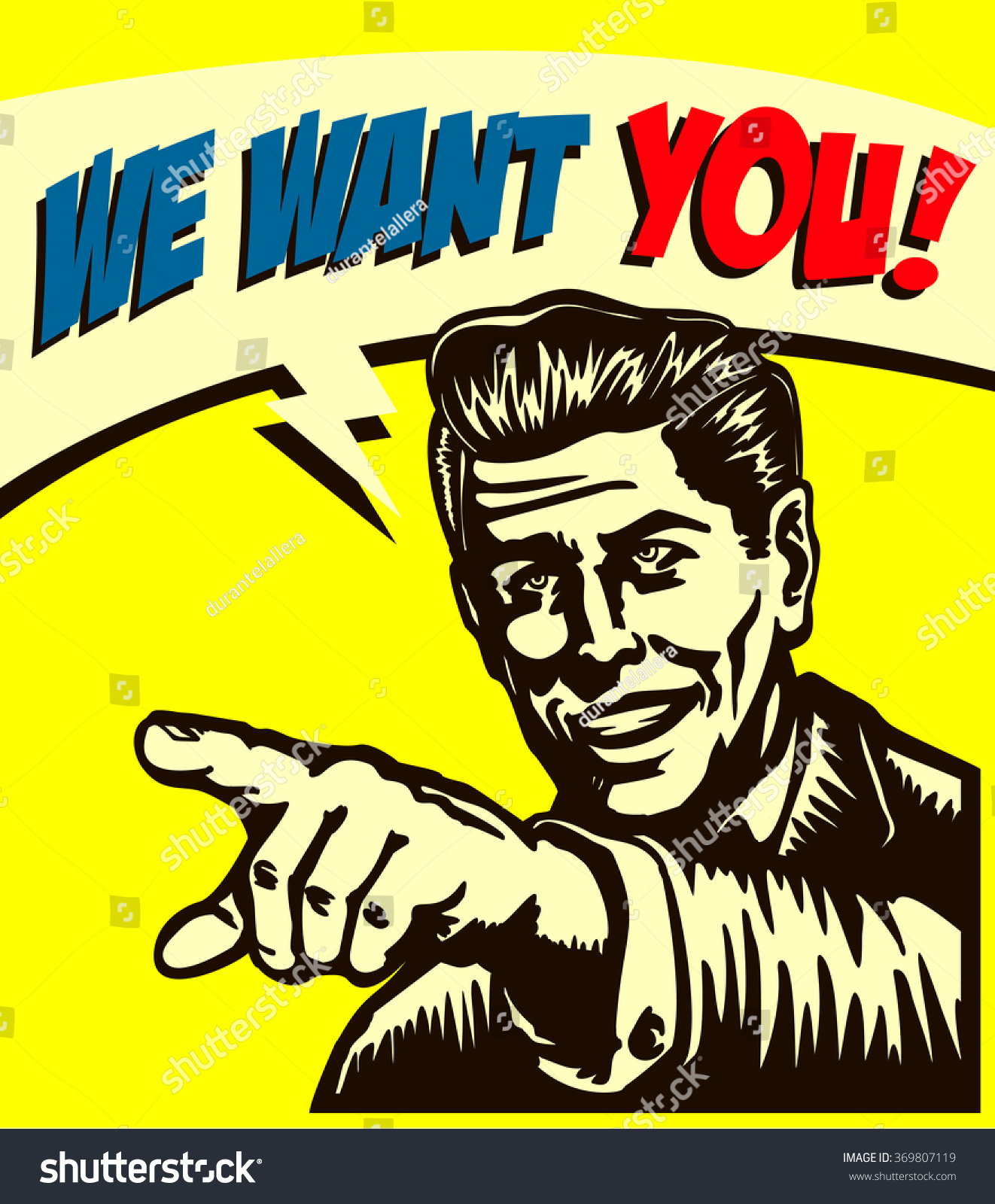 want you vintage businessman pointing finger stock vector i want you vintage businessman pointing finger picking candidate for job vacancy we