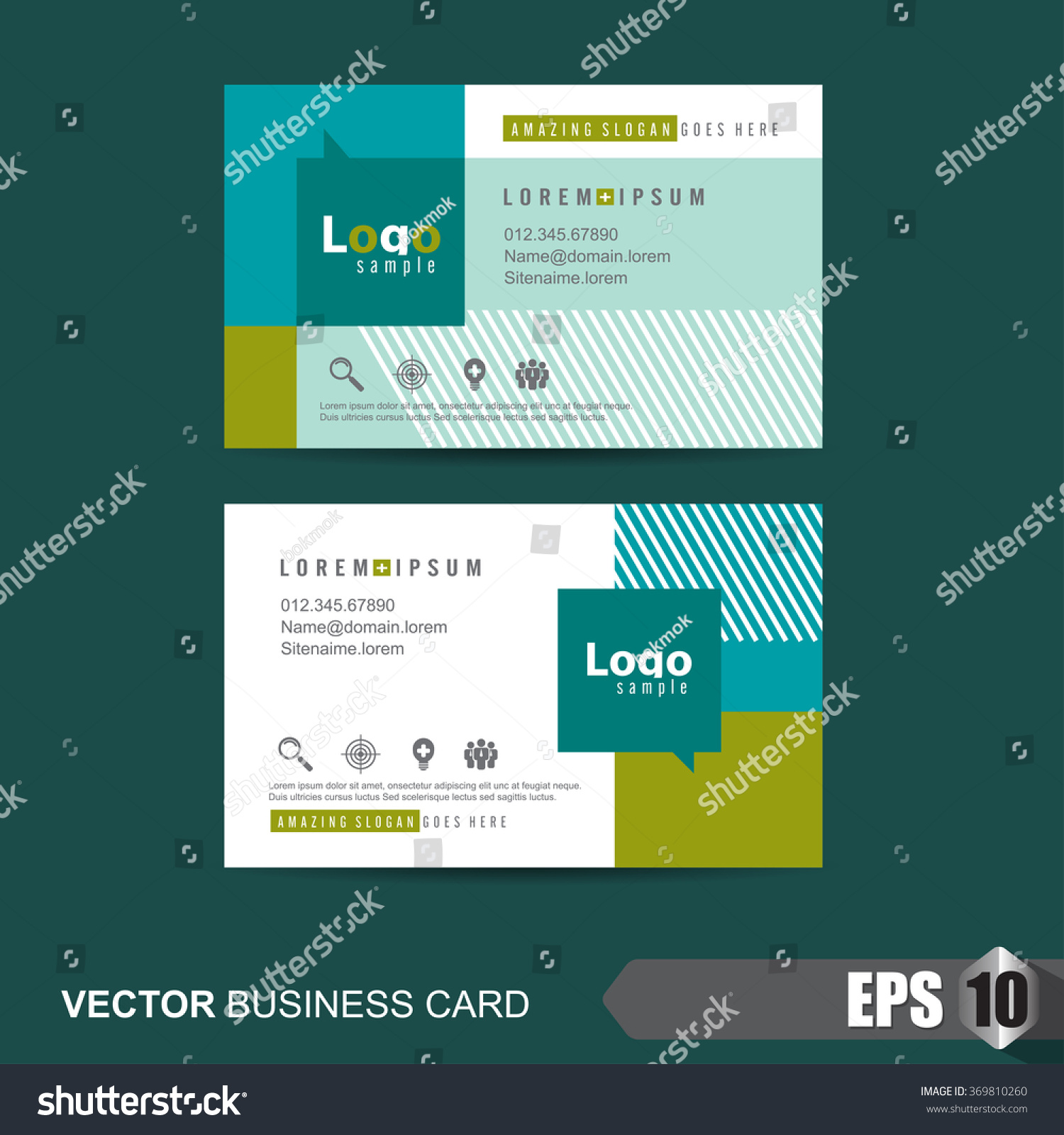 business card templatevector illustration stock vector