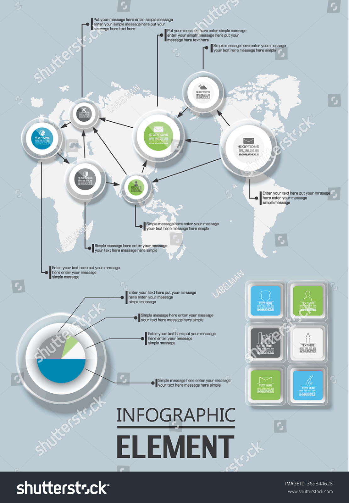 ELEMENT FOR INFOGRAPHIC CHART TEMPLATE WORLD MAP 369844628 – Element Chart Template
