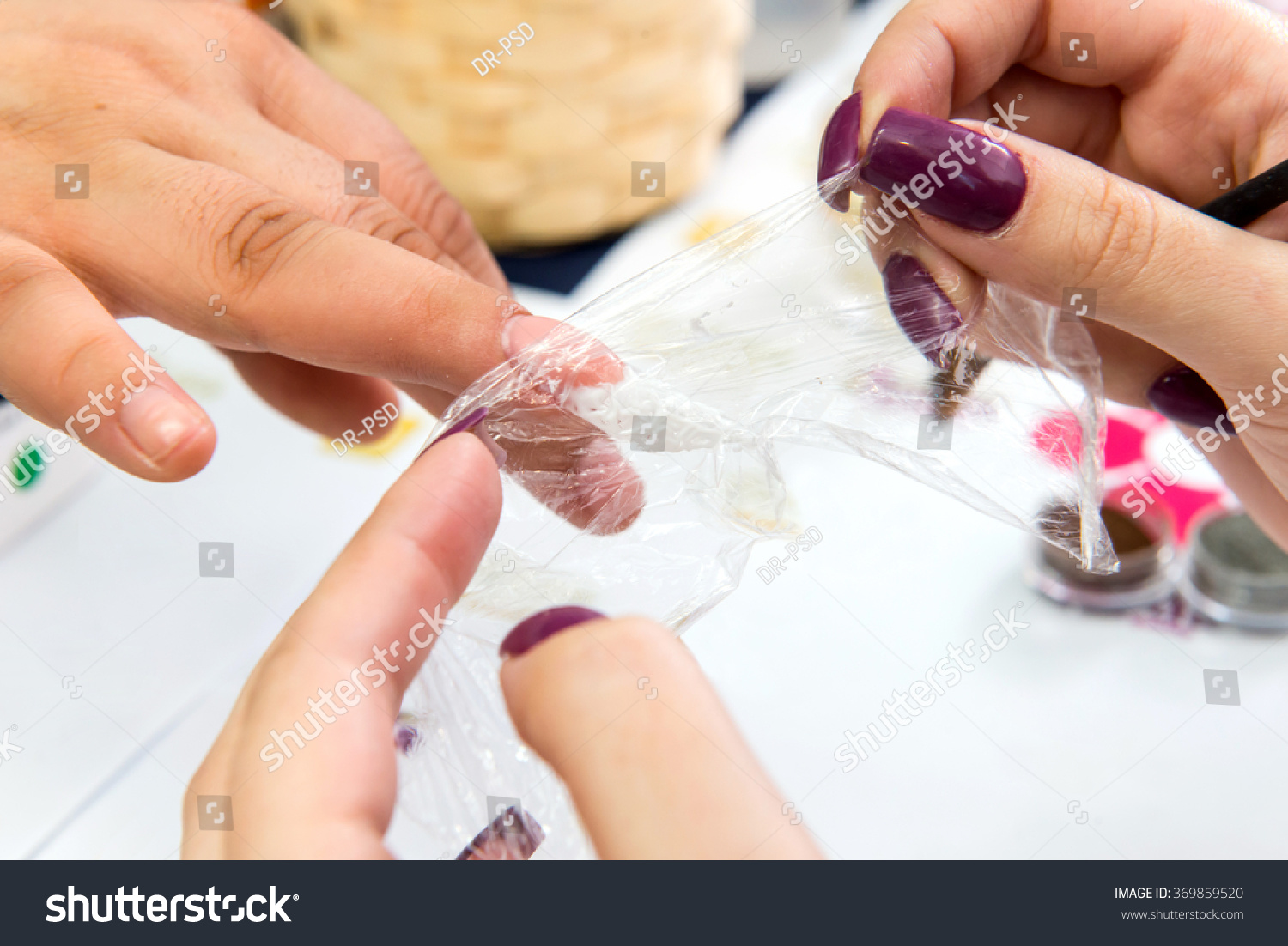 Construction Gel Nails Beautiful Stock Photo (Royalty Free ...