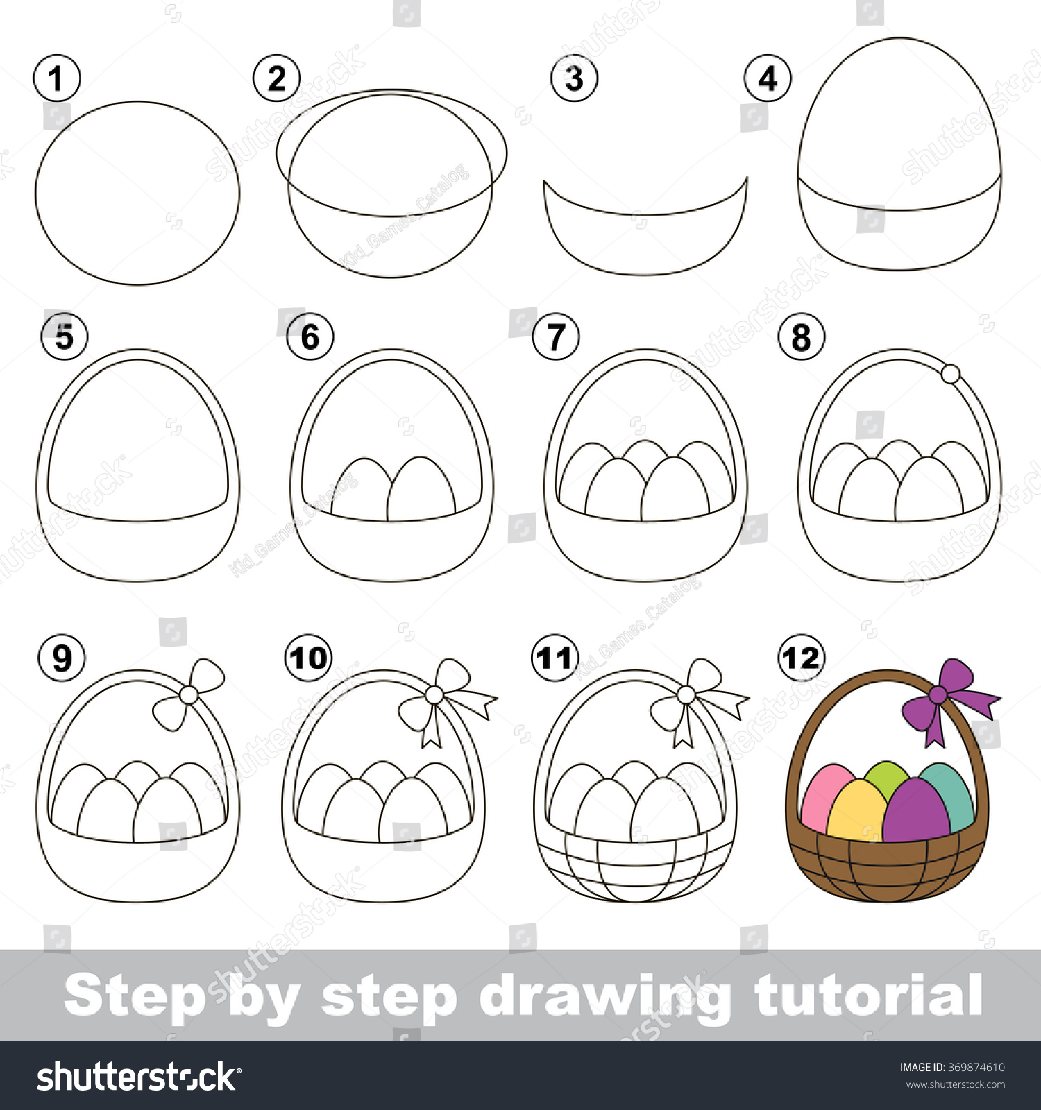 How To Draw A Easter Basket