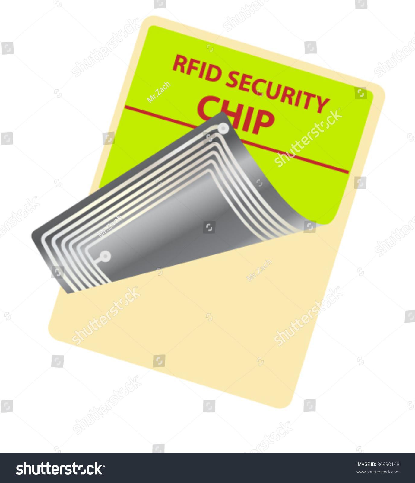 tag with rfid chip stock vector illustration 36990148 shutterstock. Black Bedroom Furniture Sets. Home Design Ideas