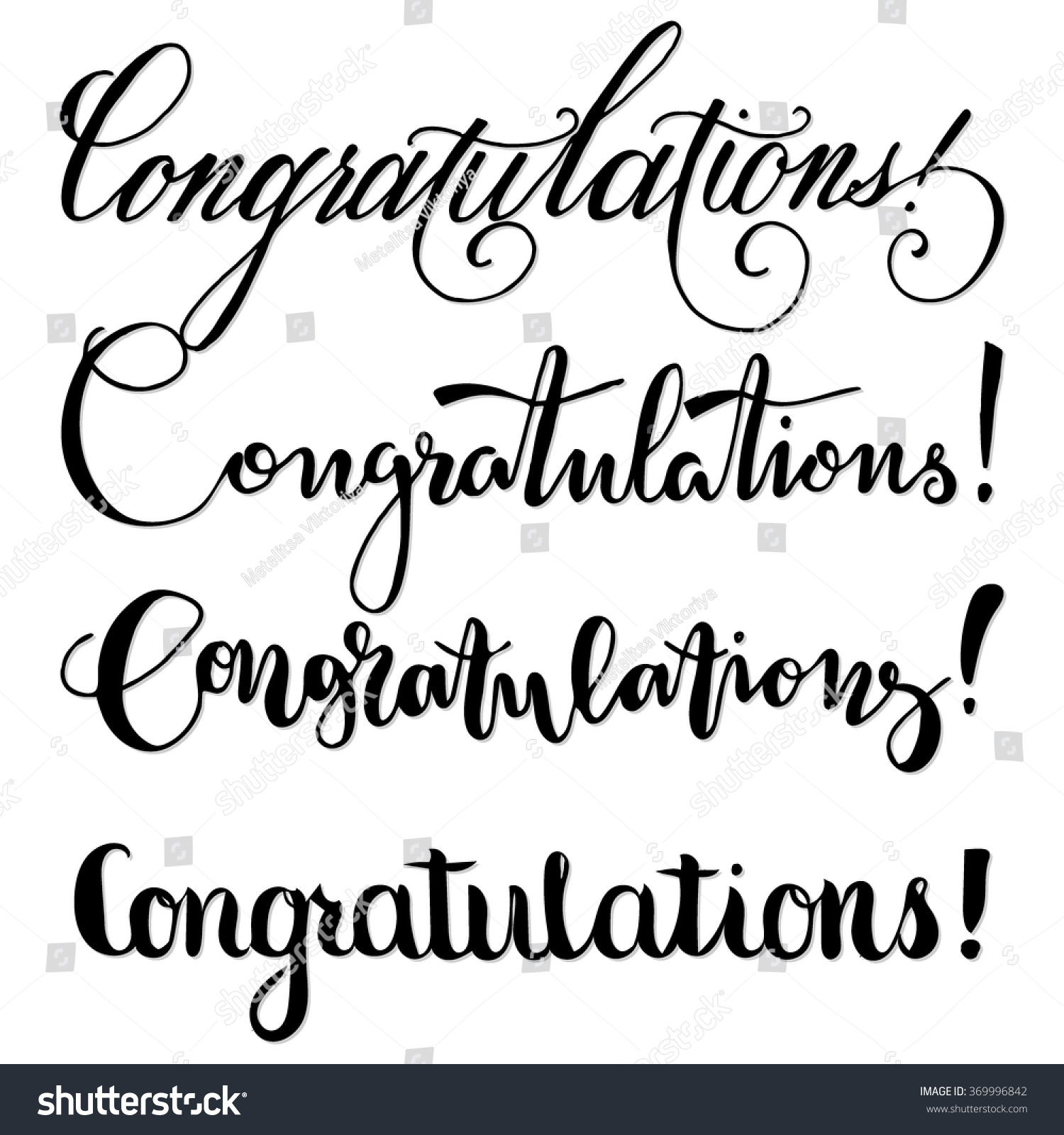 Congratulations collection hand letteringhand drawn quote Calligraphy as a career