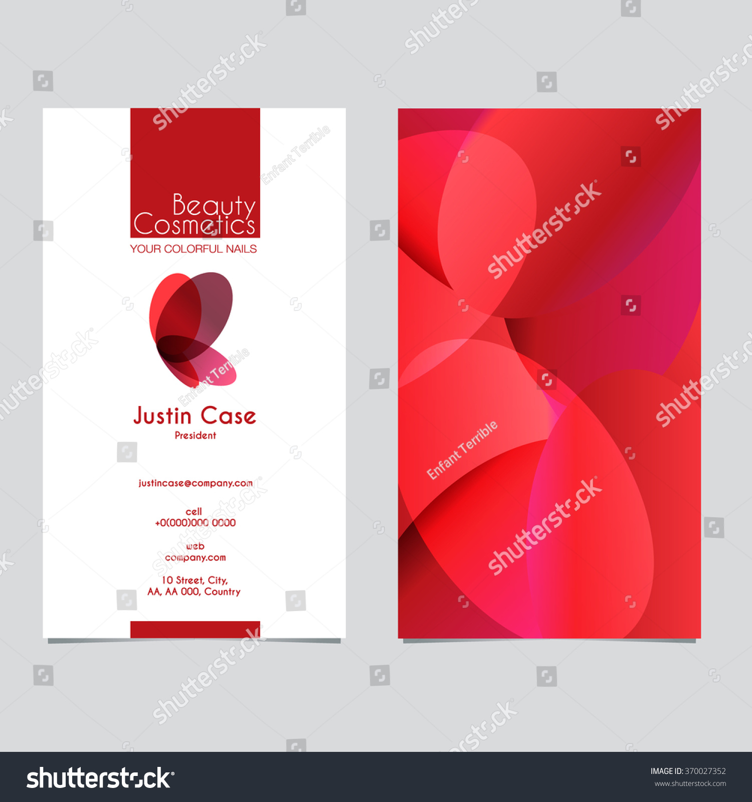 Business Sign Business Card Vector Template Stock Photo (Photo ...
