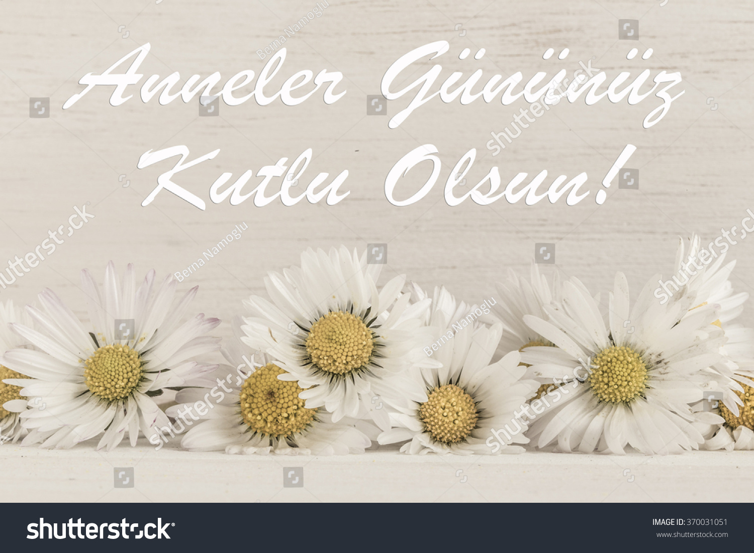 Royalty Free Mothers Day Greeting In Turkish Happy 370031051