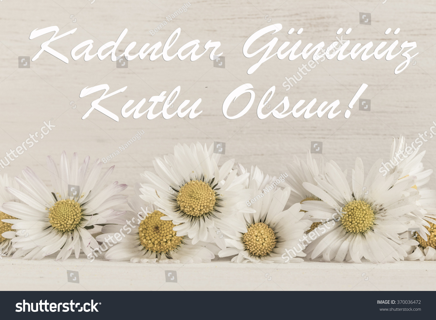 Royalty Free Womens Day Greeting In Turkish Happy 370036472