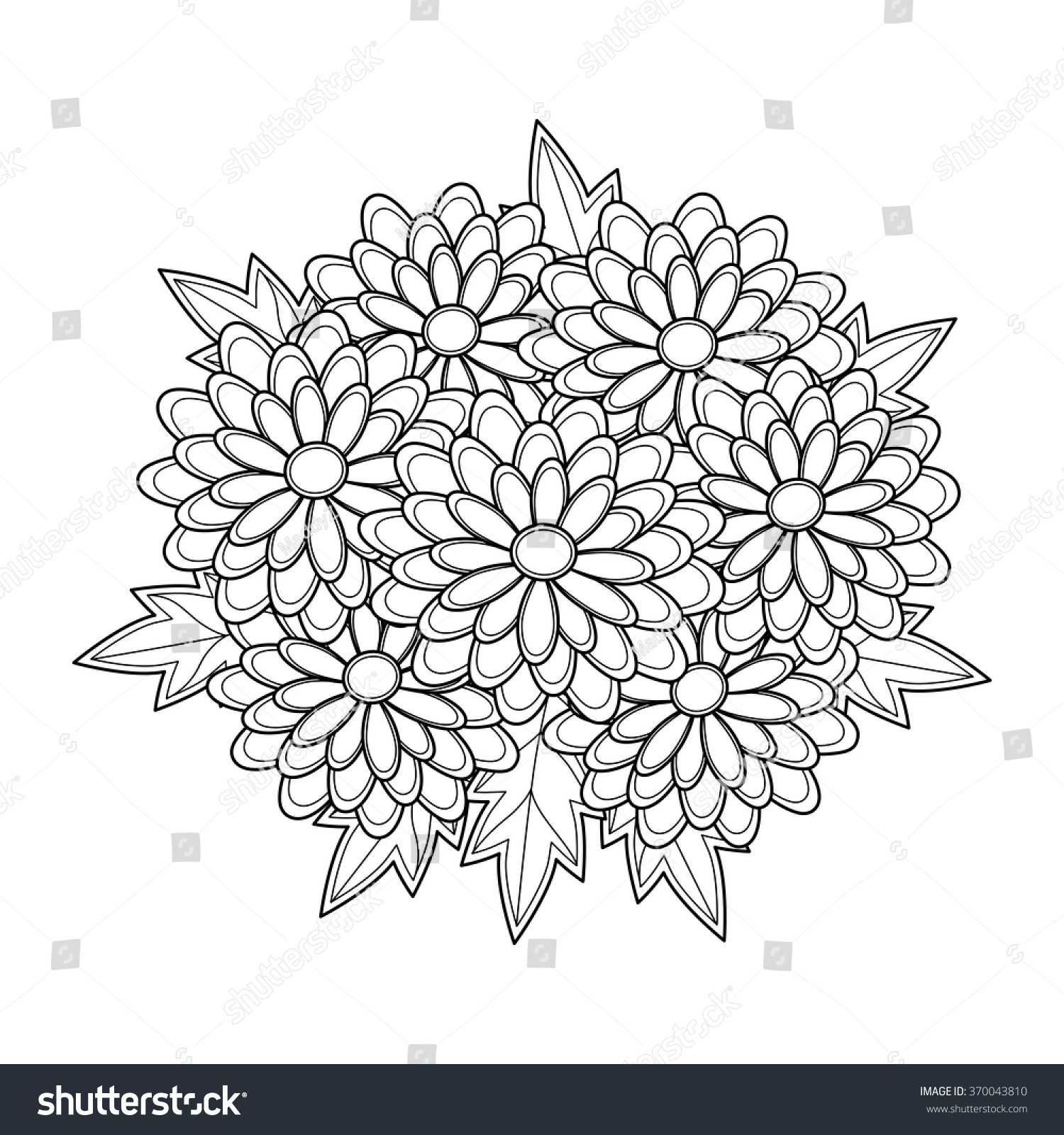 Coloring page,book for adults and children a beautiful plant,flower ...