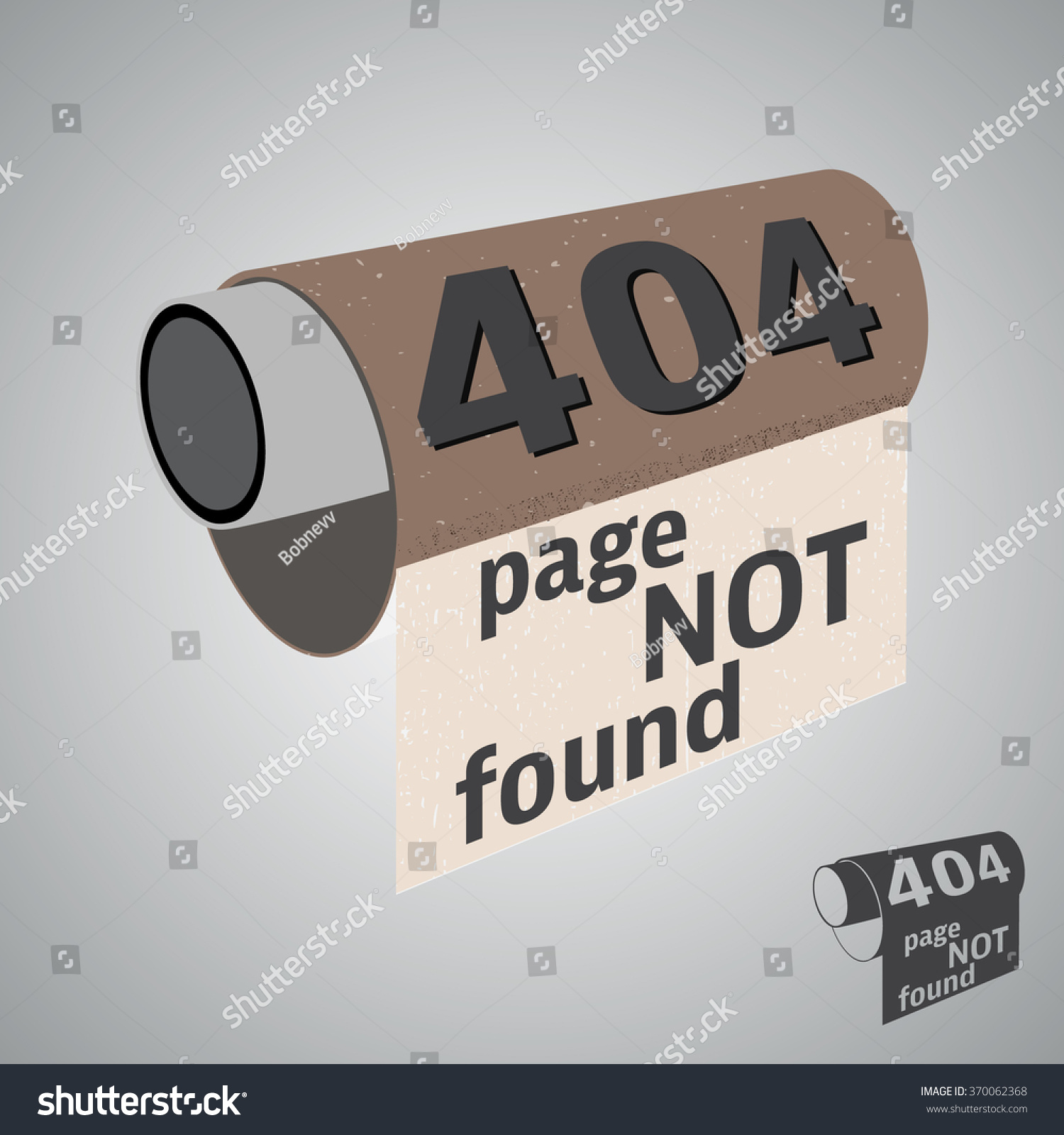 Background image 404 not found - Error 404 Page Not Found Background Toilet Paper With Error Message Vector Illustration