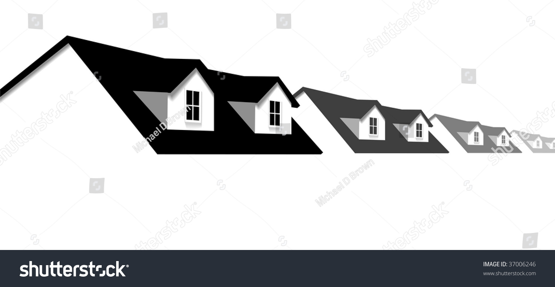 House Symbol Border Row Homes 2 Stock Vector 37006246 - Shutterstock