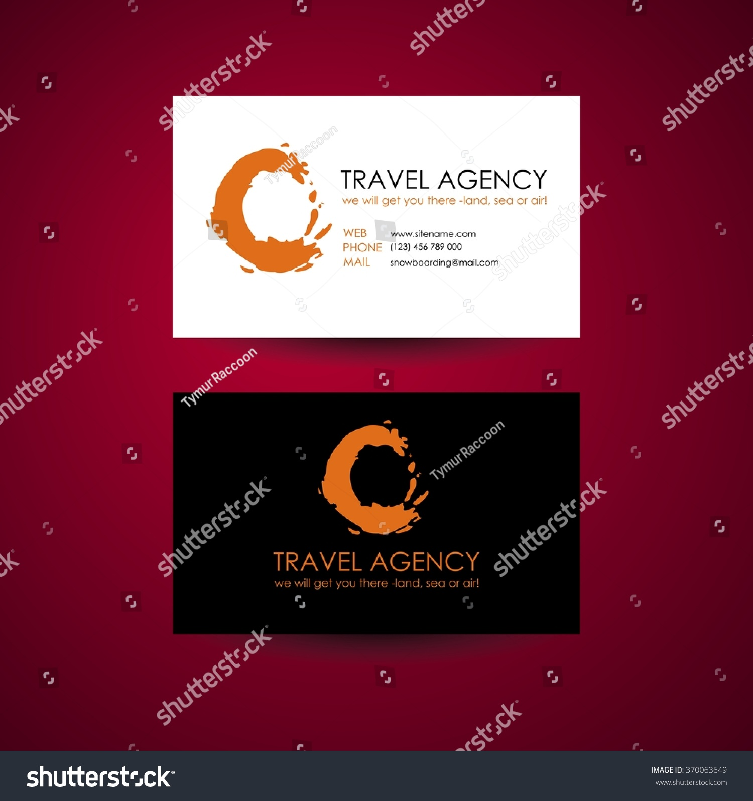 travel agency business card template travel stock vector
