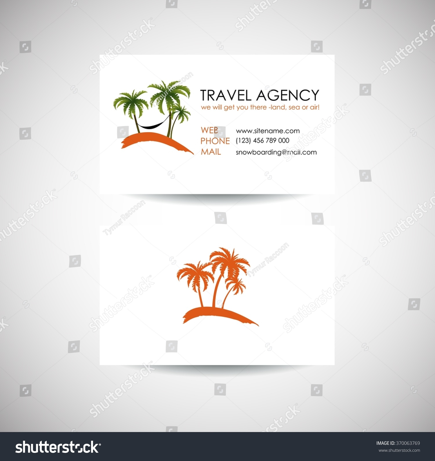Travel agency business card template travel stock vector 370063769 travel agency business card template travel agency logo design idea magicingreecefo Choice Image